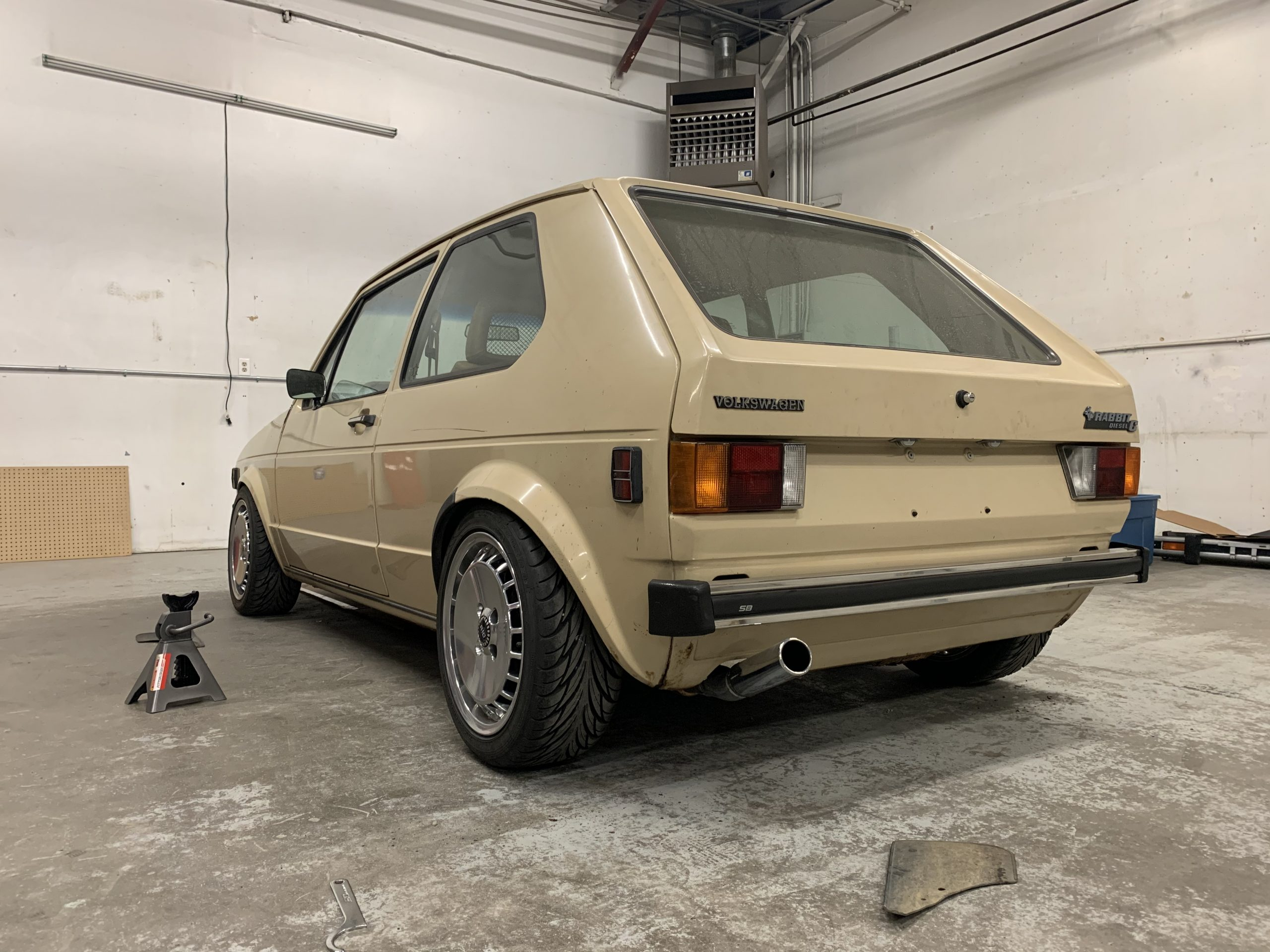 1980 VW Rabbit TDI swap shop rear Feb 27, 2 40 15 PM