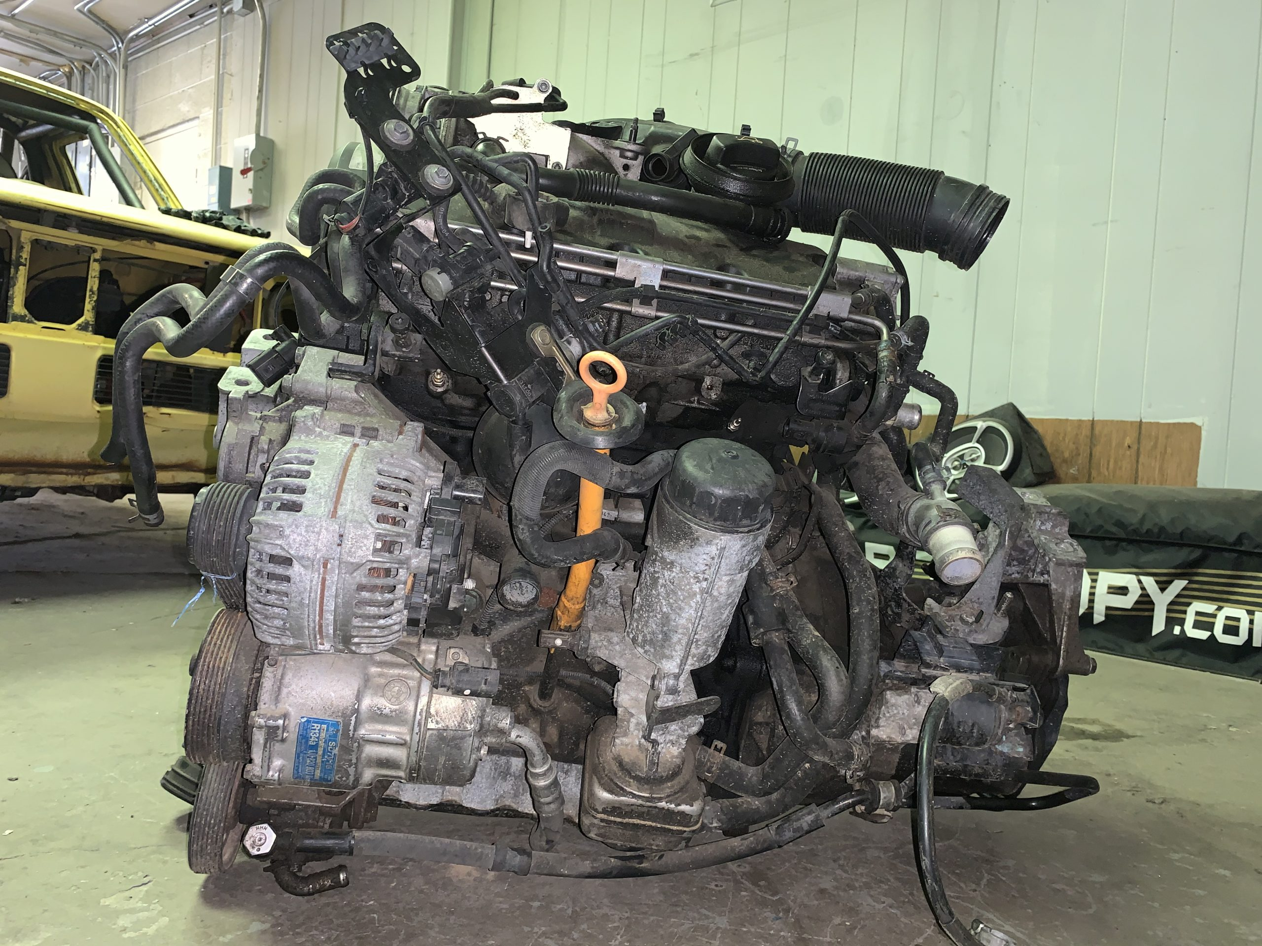 1980 VW Rabbit TDI swap engine May 02, 10 53 58 AM