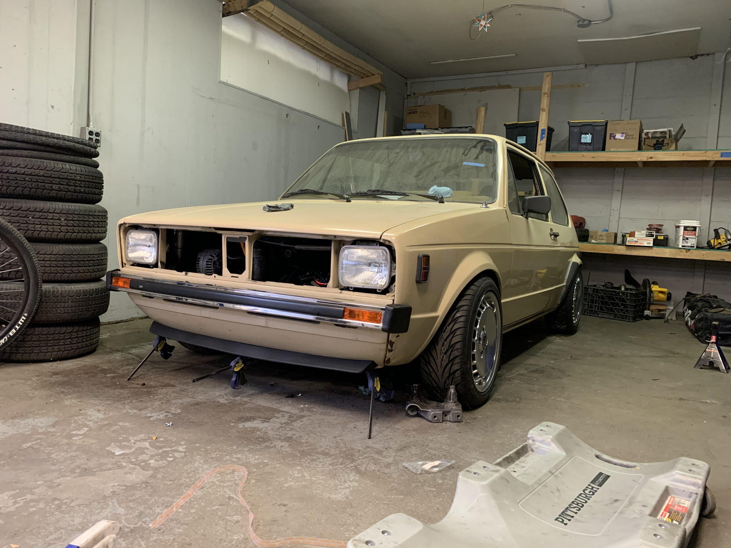 1980 VW Rabbit TDI swap after splitter Nov 09, 11 39 36 AM