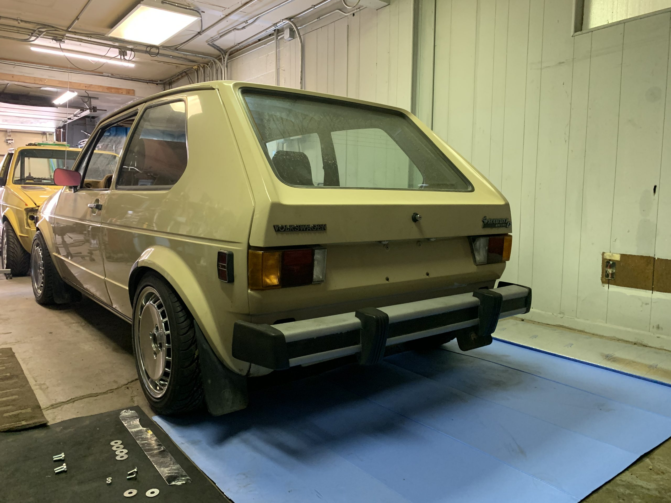 1980 VW Rabbit TDI swap shop old bumper Sep 01, 5 03 03 PM