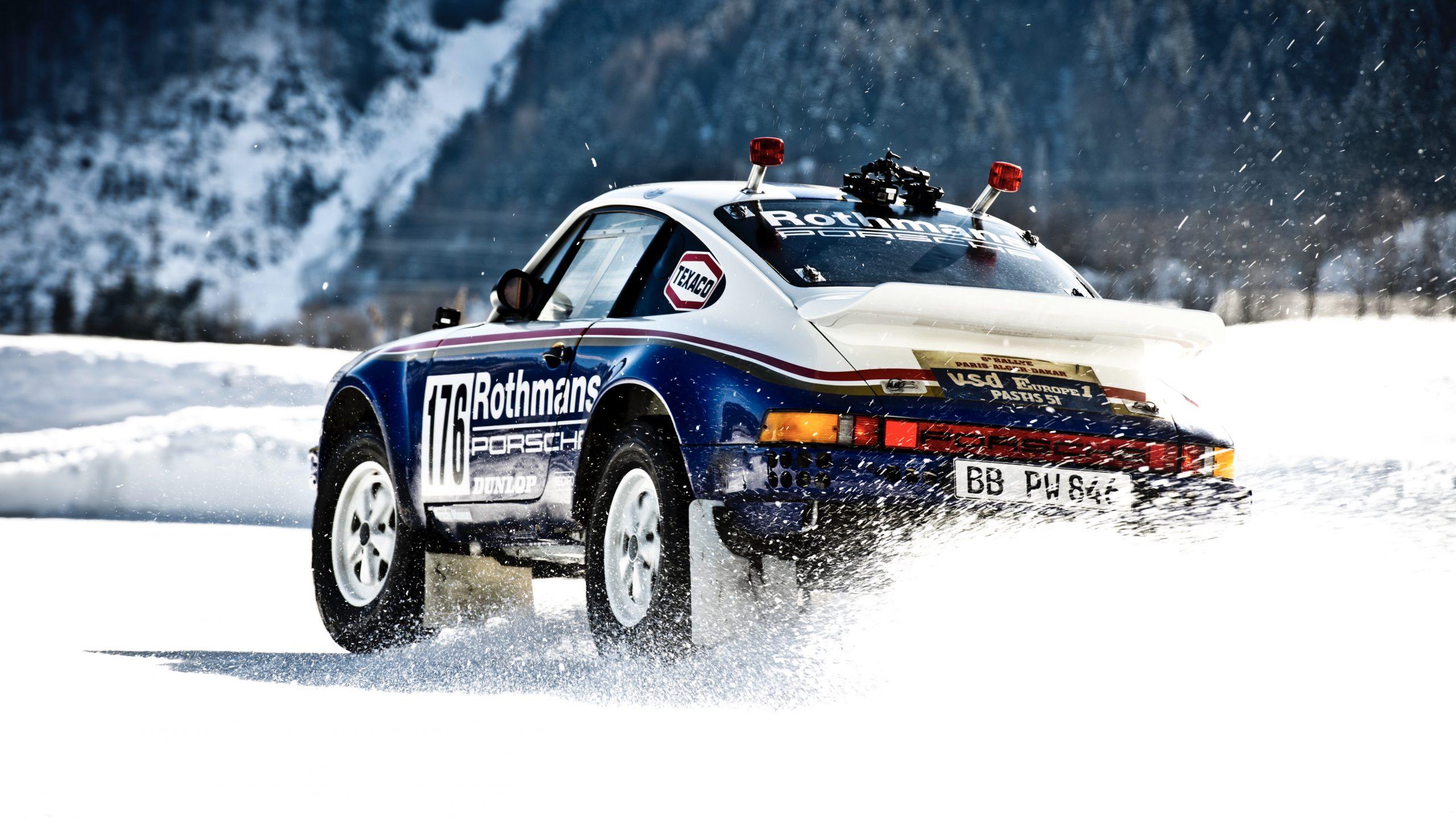 Porsche 953/Walter Röhrl rear three quarter