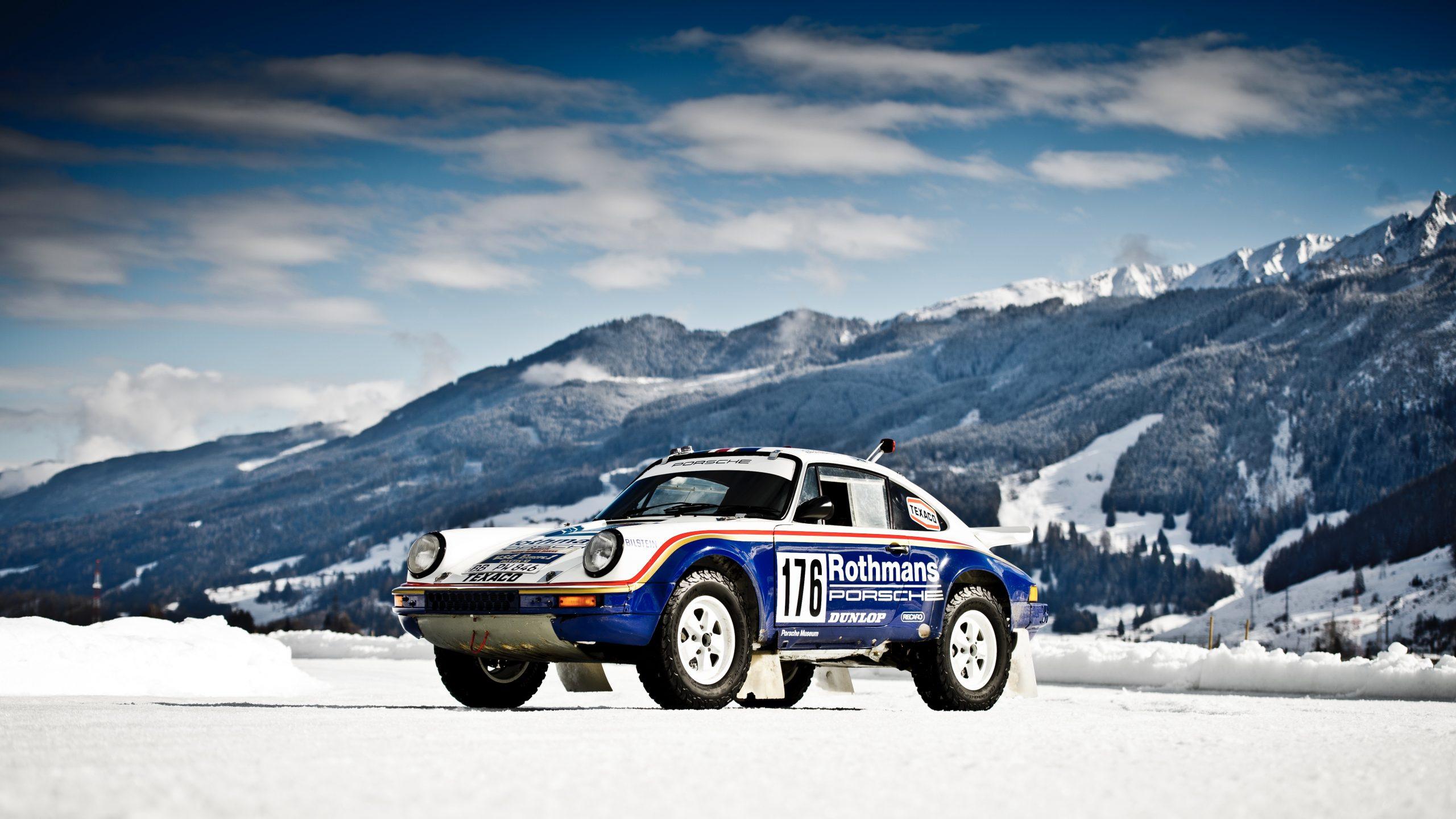 Porsche 953/Walter Röhrl car still front three quarter