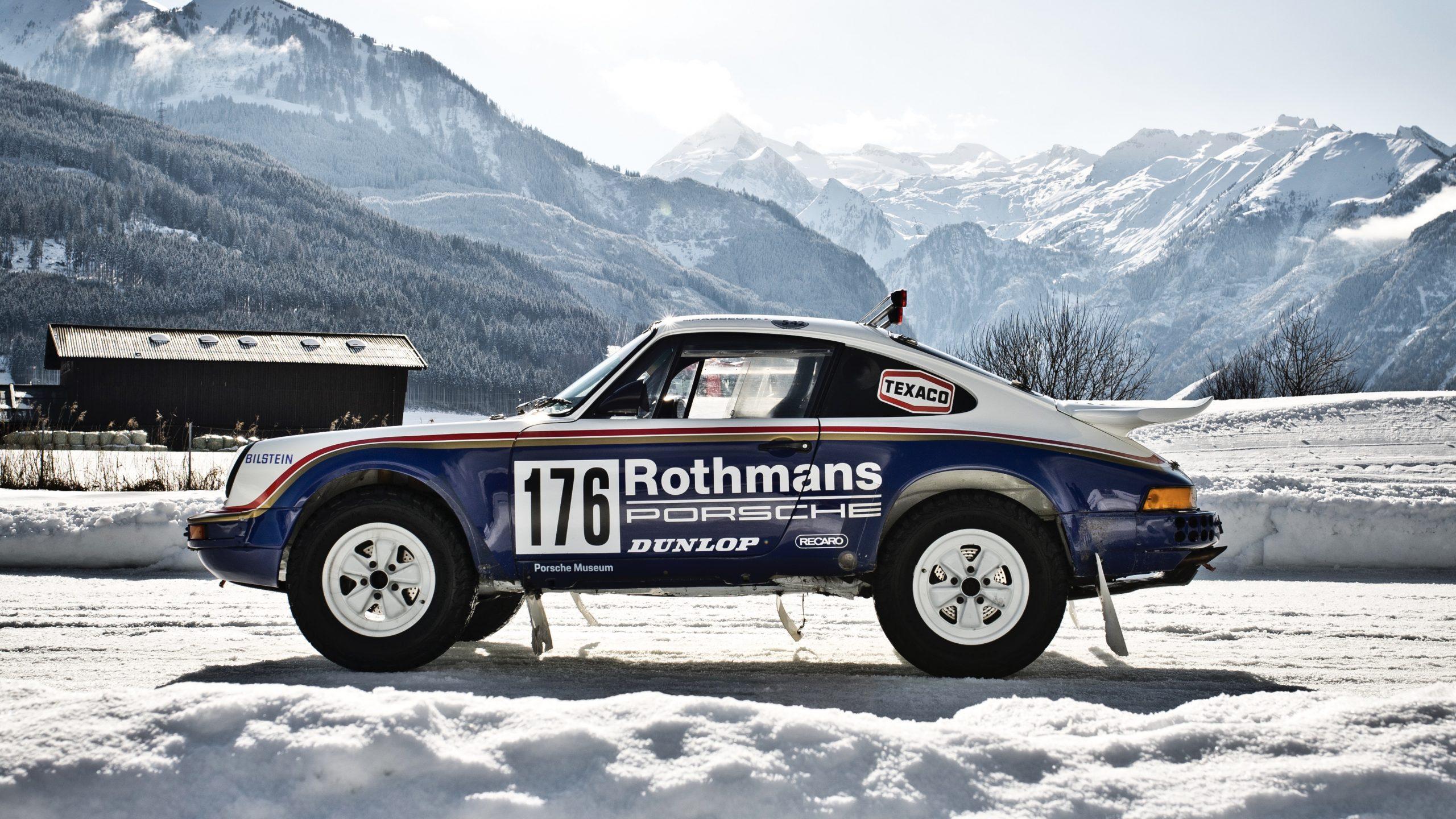 Porsche 953/Walter Röhrl side profile