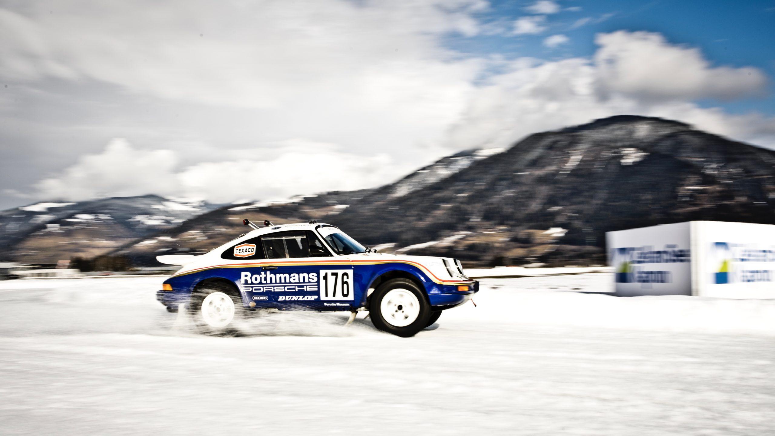 Porsche 953/Walter Röhrl side profile at speed
