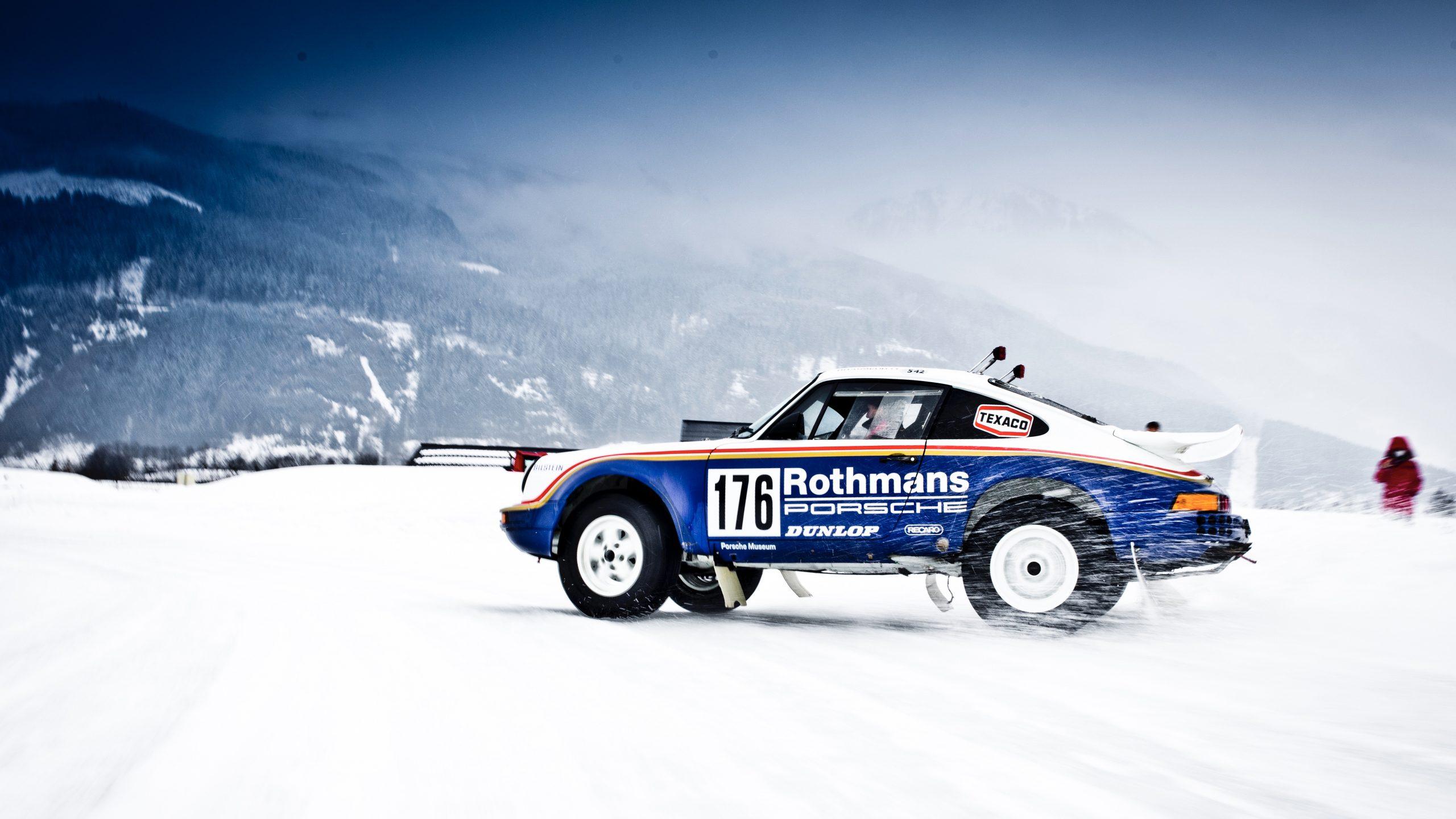 Porsche 953/Walter Röhrl drift sideways