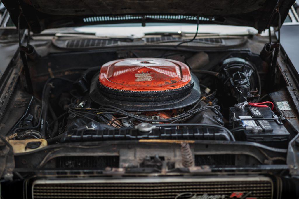 black ghost challenger engine bay