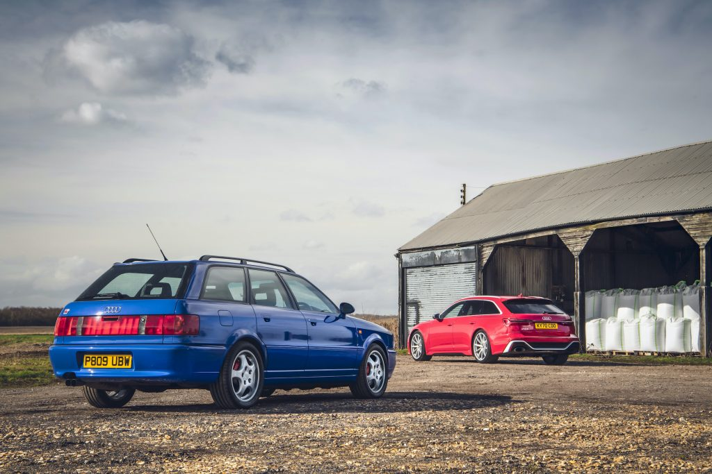 Audi RS2 and RS6 rear three-quarter barn