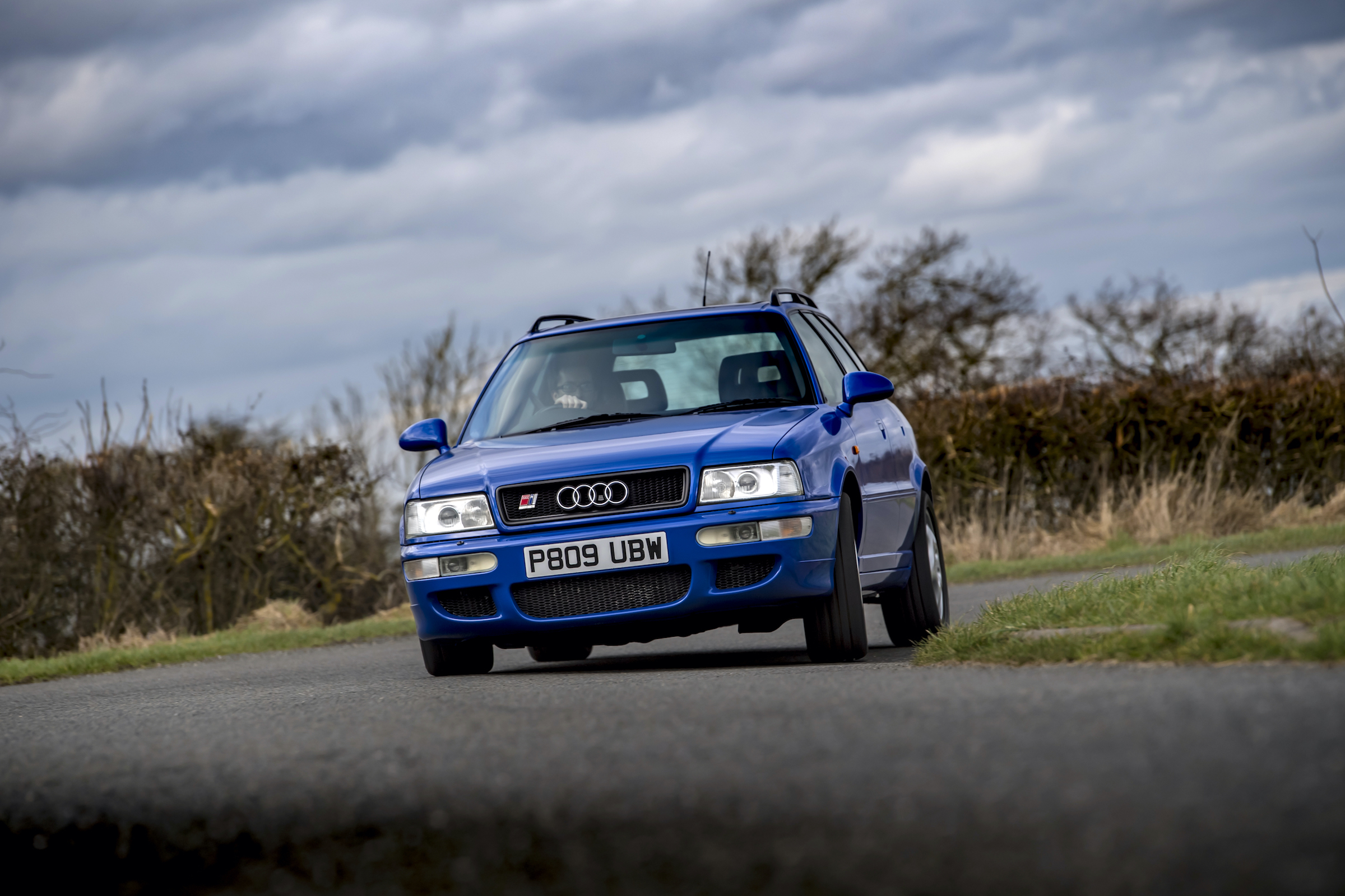 Audi RS2 front cornering driving action