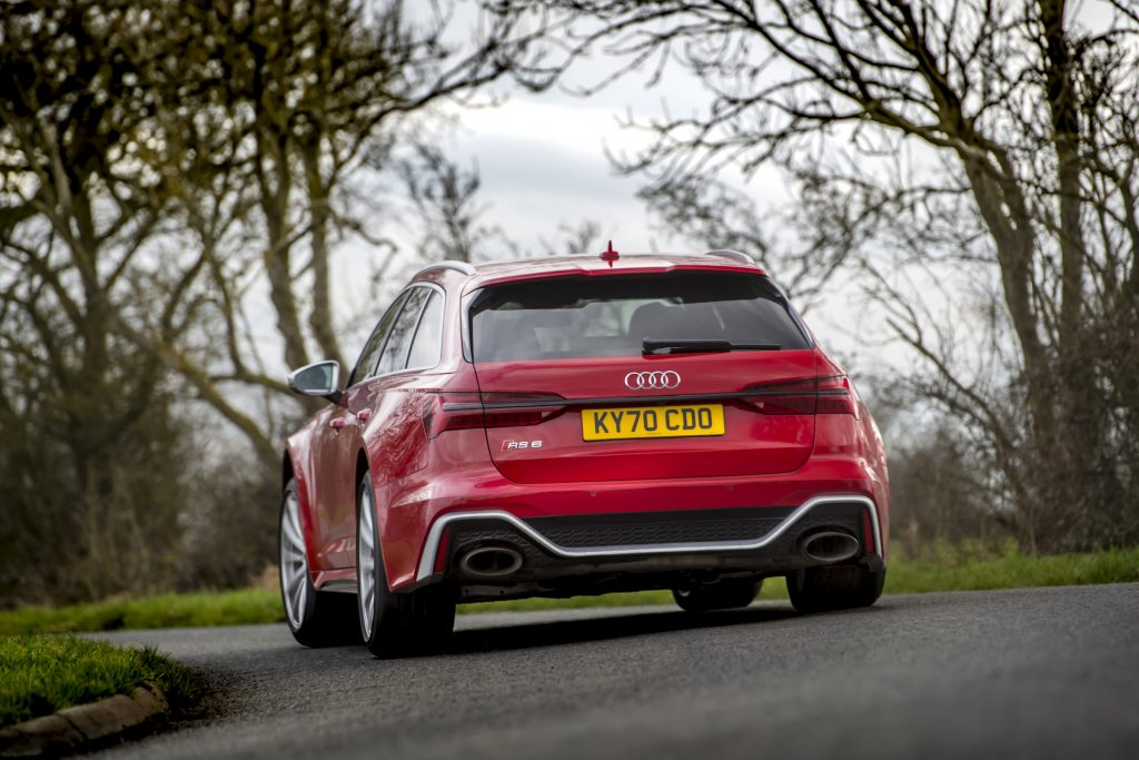 Audi RS6 rear cornering driving action