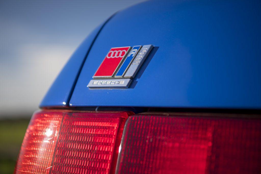 Audi RS2 rear porsche badging detail close