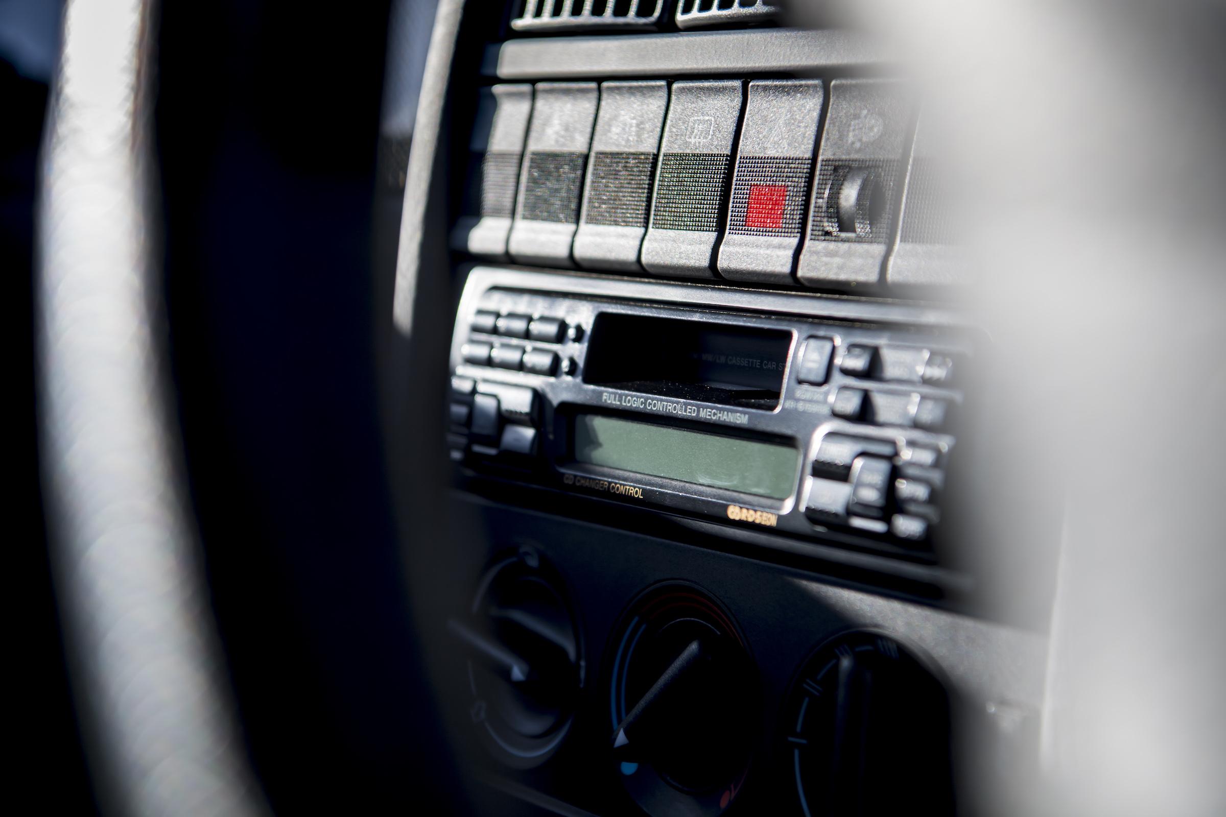 Audi RS2 interior radio controls