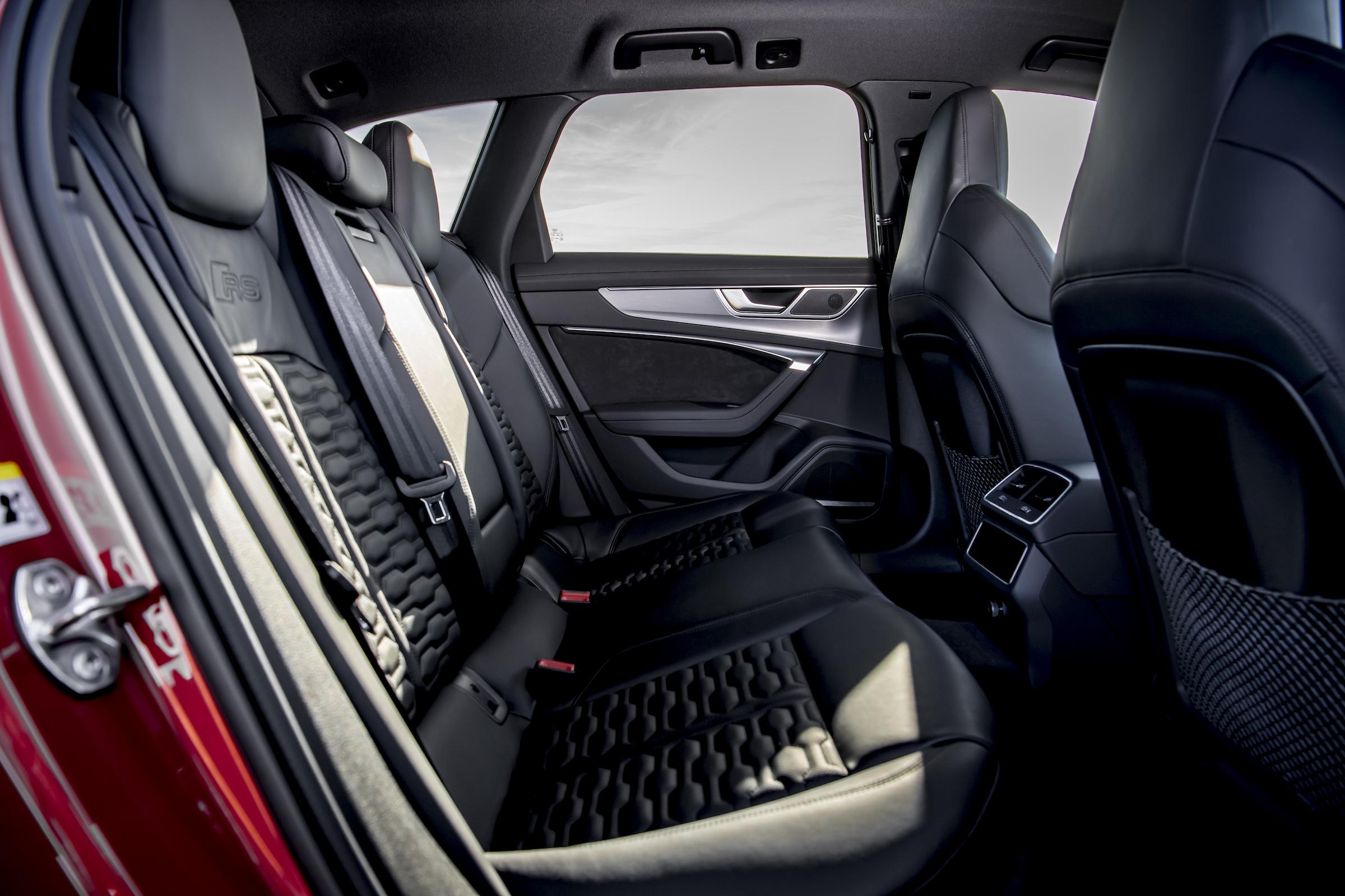 Audi RS6 interior rear seat