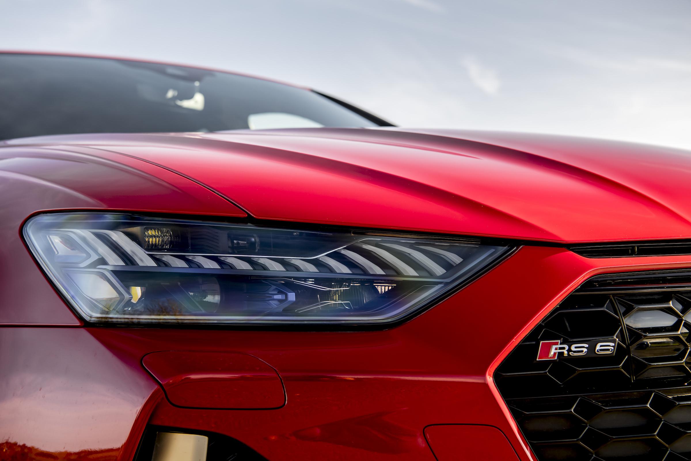 Audi RS6 front headlight