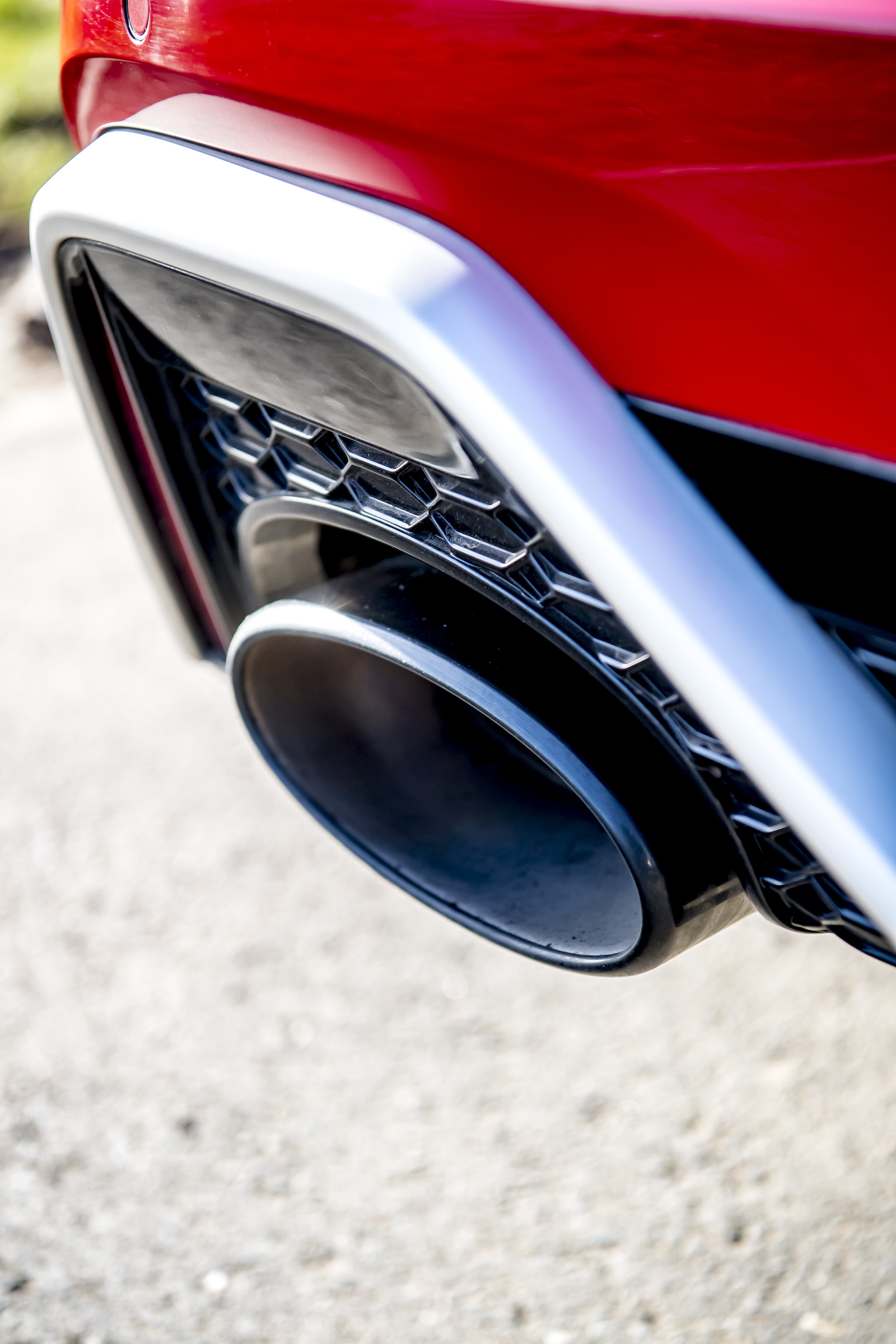 Audi RS6 rear exhaust tip detail