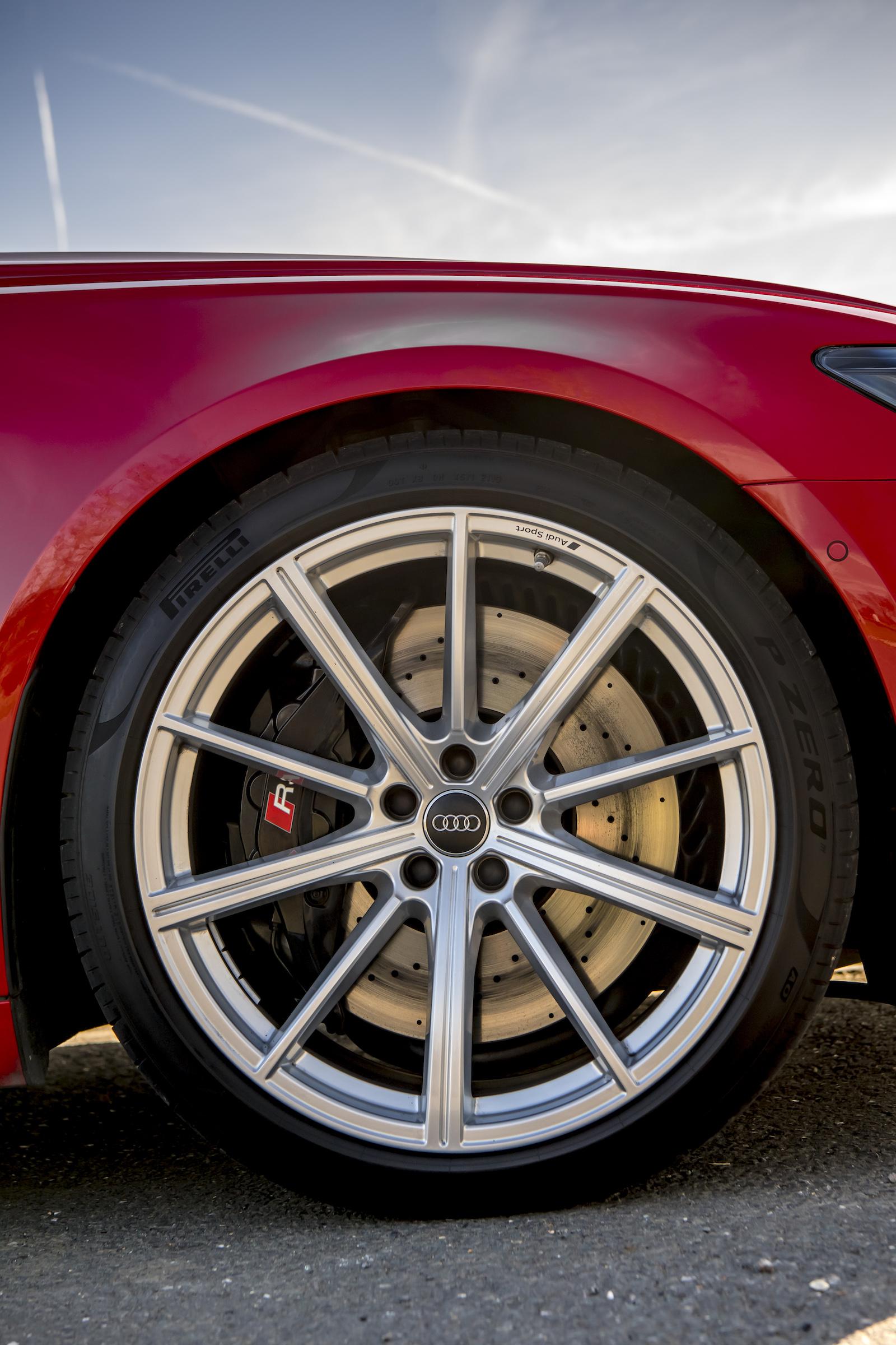 Audi RS6 front wheel detail