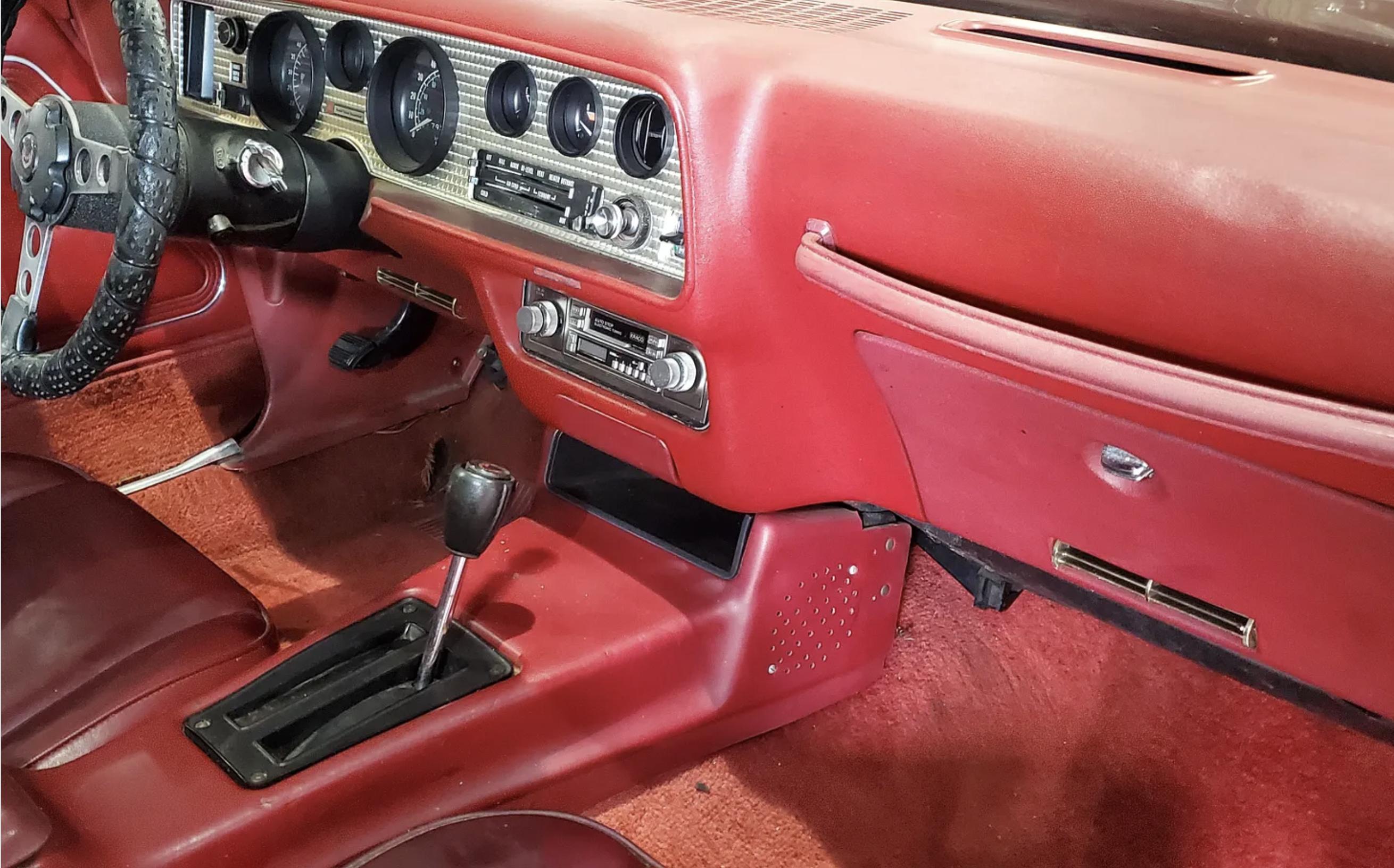 1978 Pontiac Firebird Trans Am barn find interior