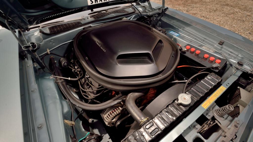 1971 Plymouth Hemi Cuda Convertible Hemi engine bay