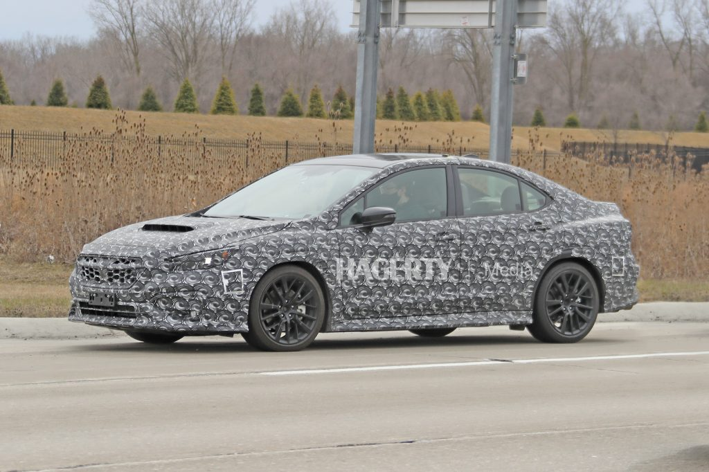 New Subaru WRX spy front three-quarter