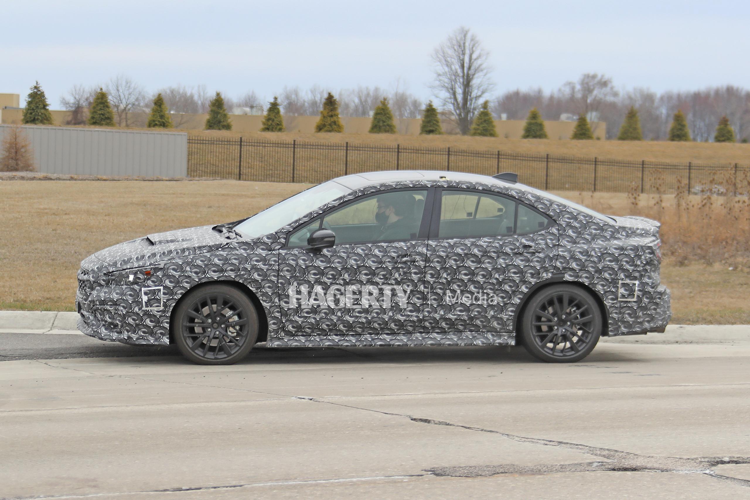 New Subaru WRX spy side profile