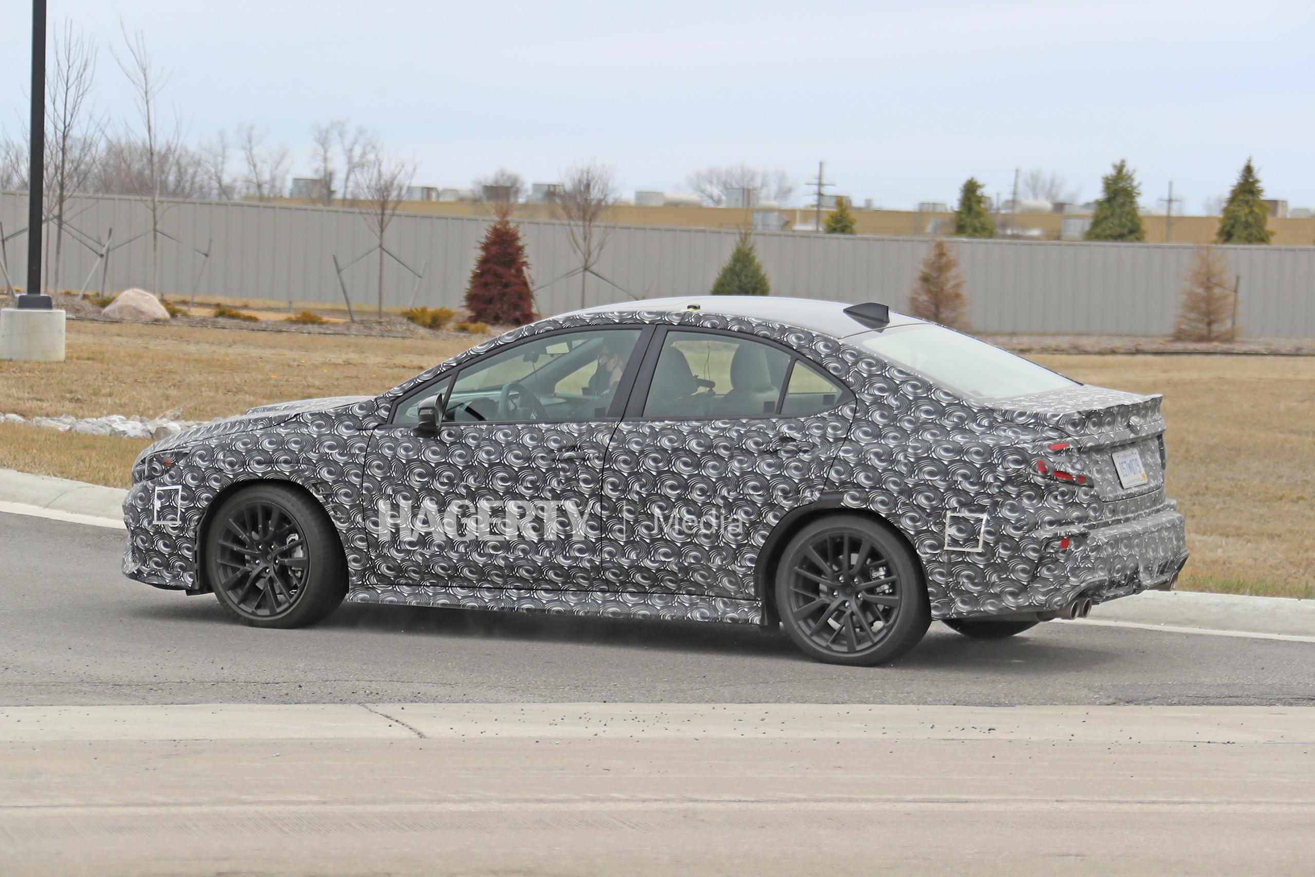 New Subaru WRX spy side turning