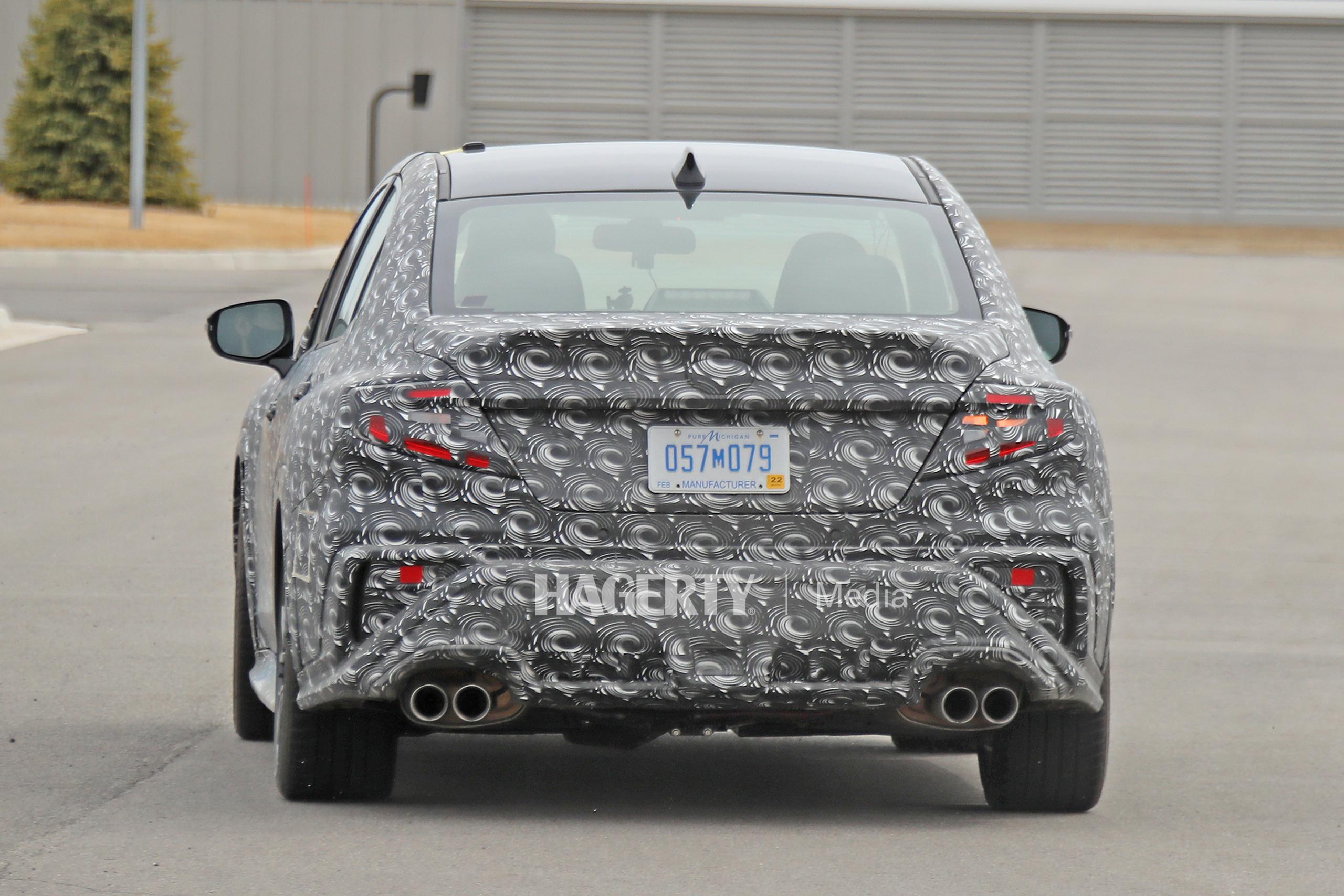 New Subaru WRX spy rear