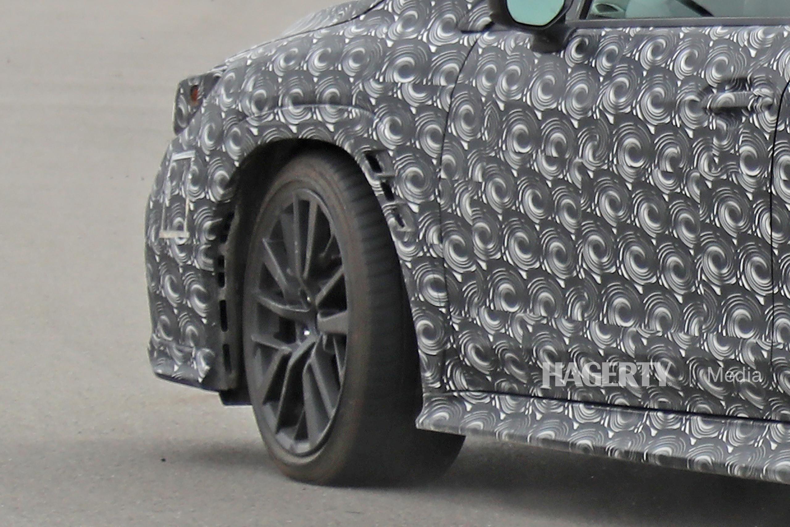 New Subaru WRX spy wheel close