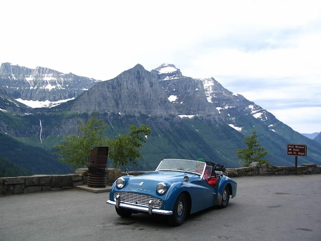1959 Triumph TR3 Glacier National Park 2004