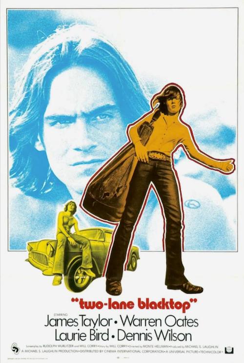 James Taylor Two Lane Blacktop Movie Poster Art