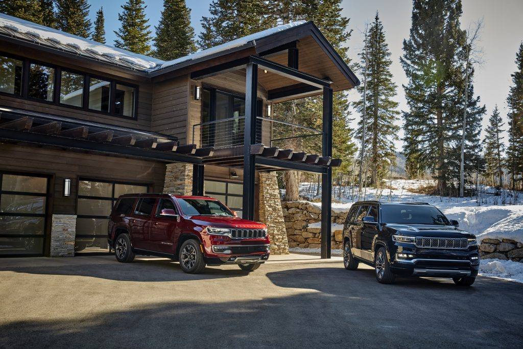 2022 Wagoneer and Grand Wagoneer front three quarter both