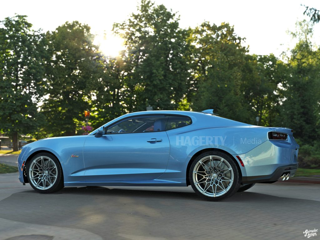 2021 Oldsmobile Cutlass Supreme what if graphic render blue profile