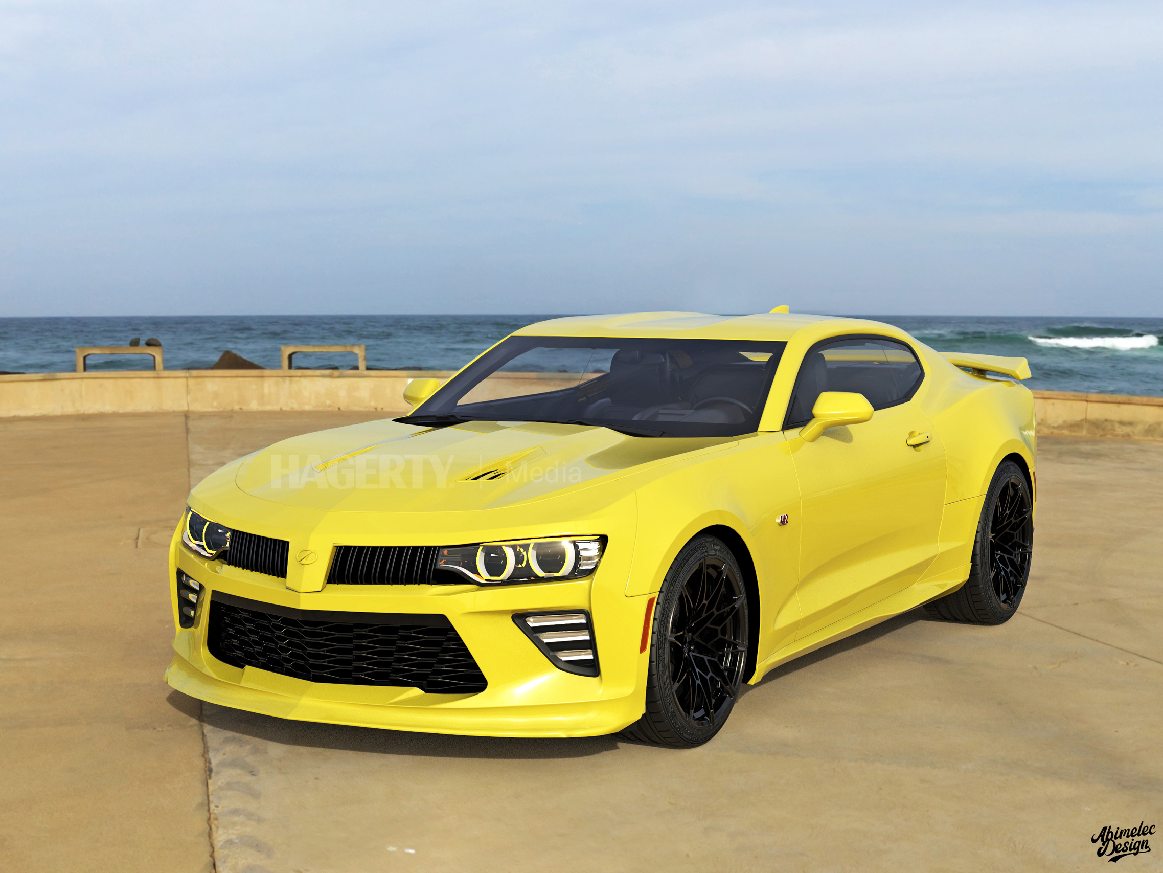 2021 Oldsmobile Cutlass Supreme what if graphic render yellow