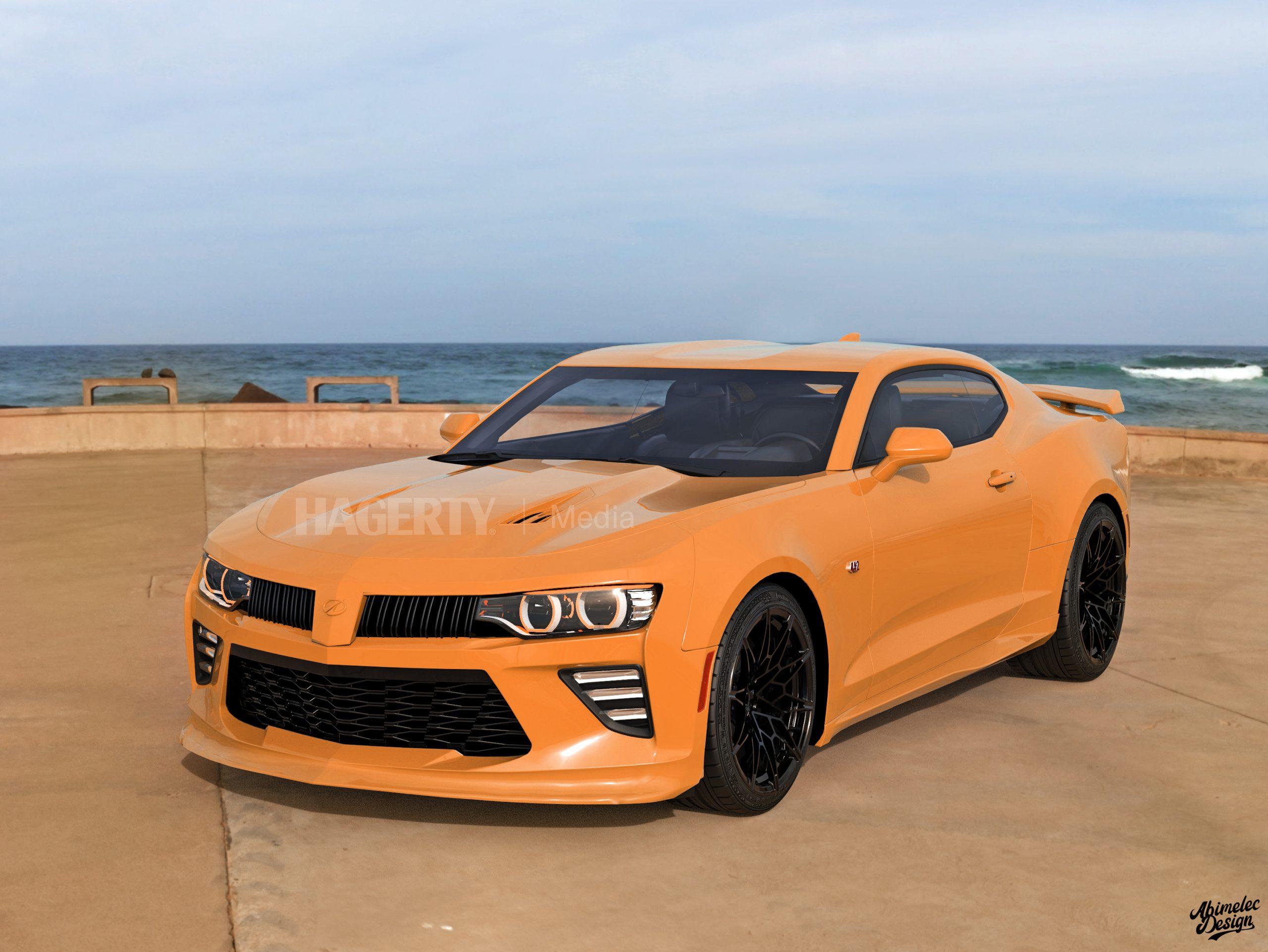 2021 Oldsmobile Cutlass Supreme what if graphic render orange