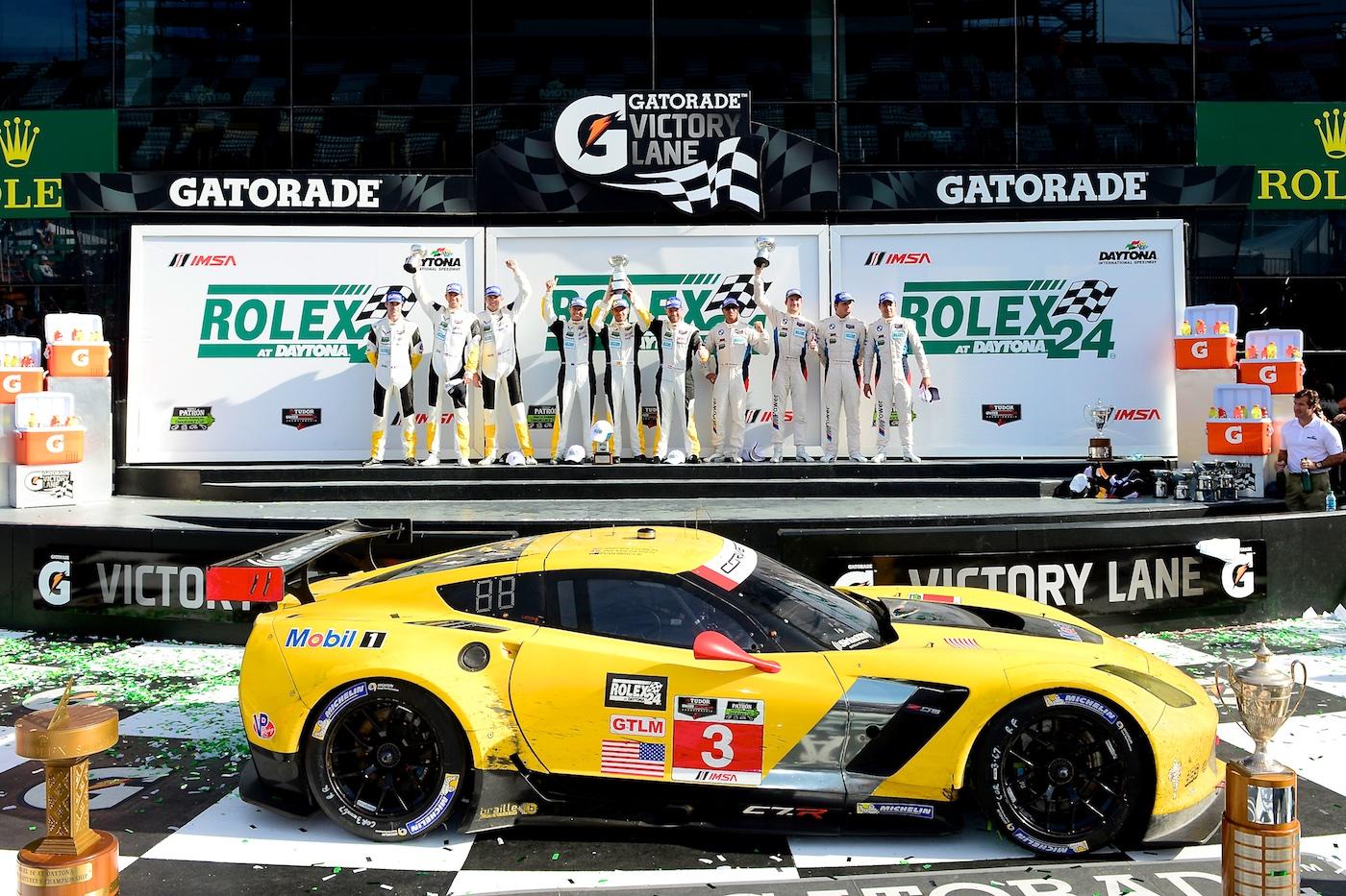 2015 Rolex 24 Hours at Daytona Corvette c7.r podium