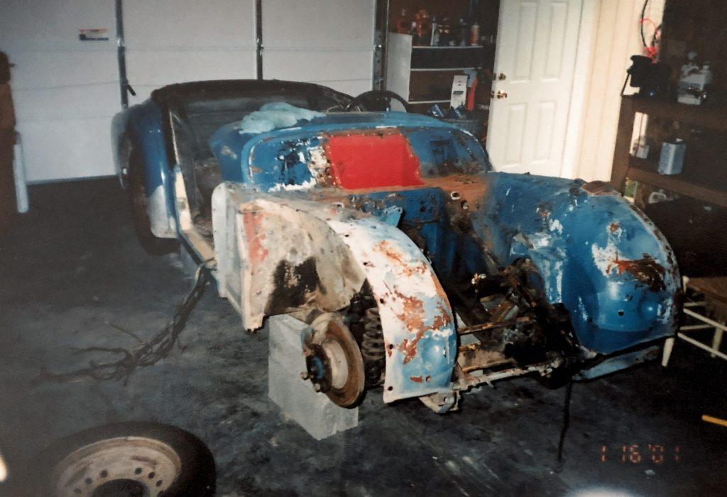 1959 Triumph TR3 restoration