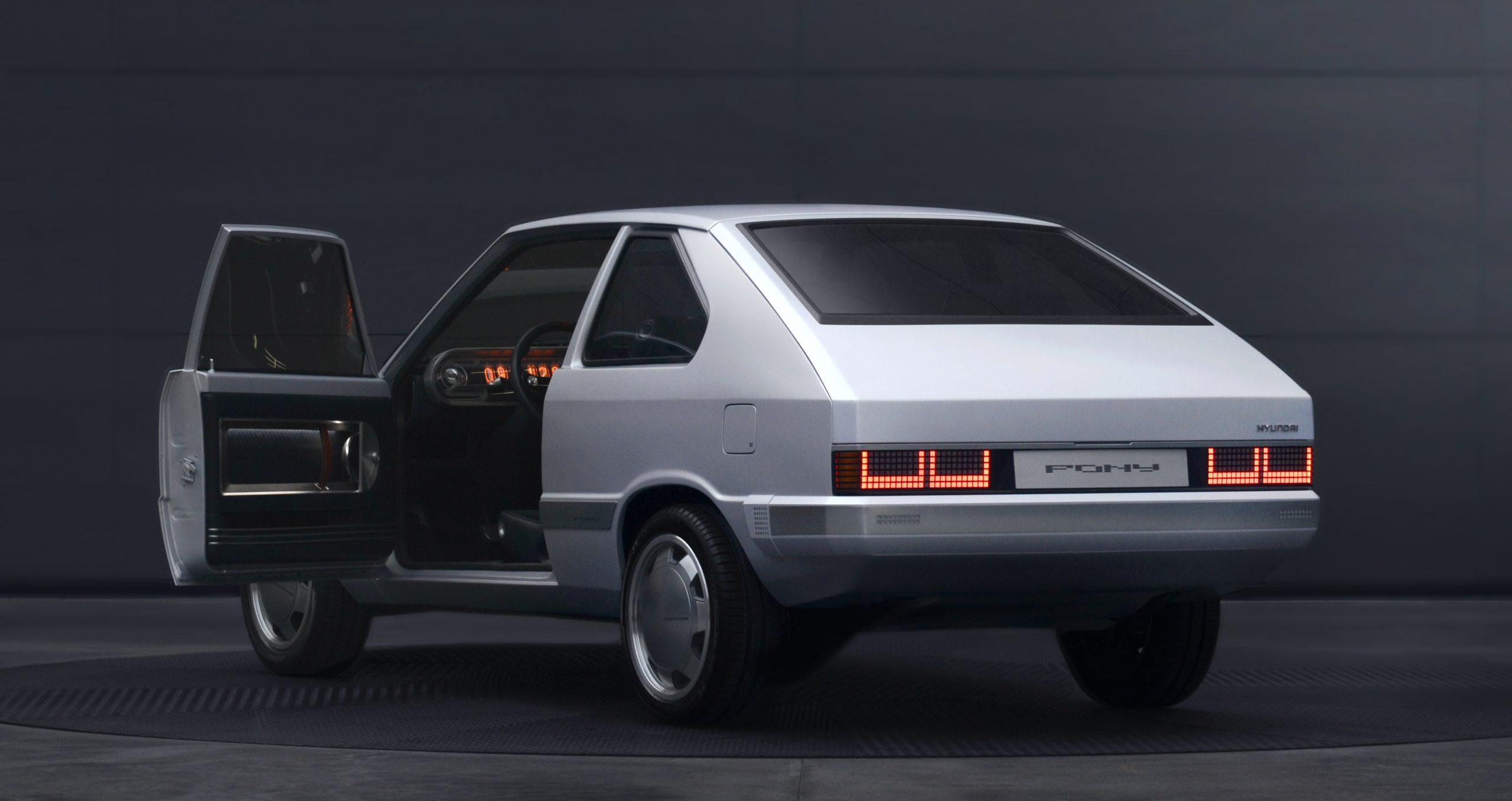 Hyundai Heritage Series Pony EV restomod