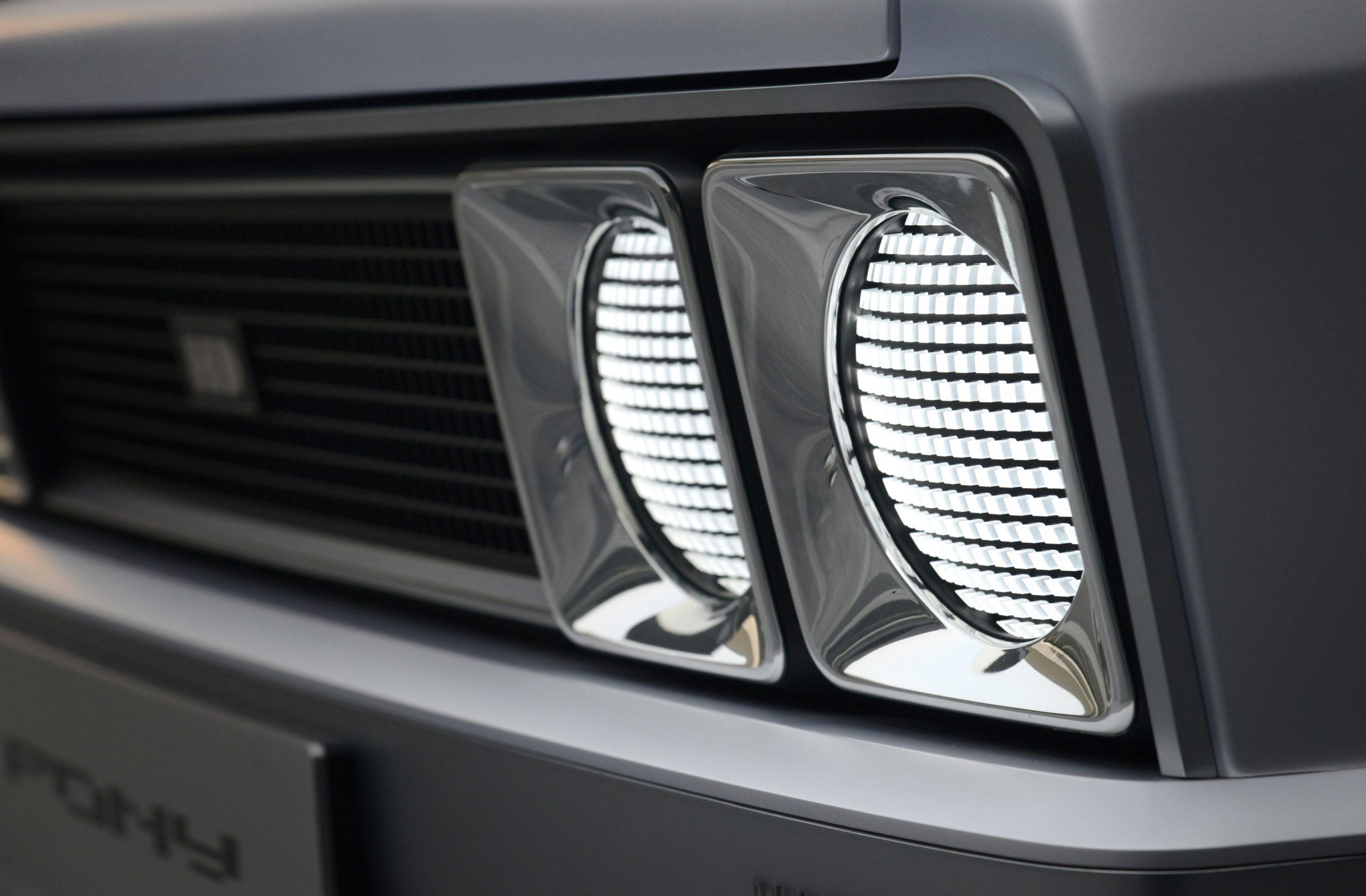 Hyundai Heritage Series Pony EV restomod headlight