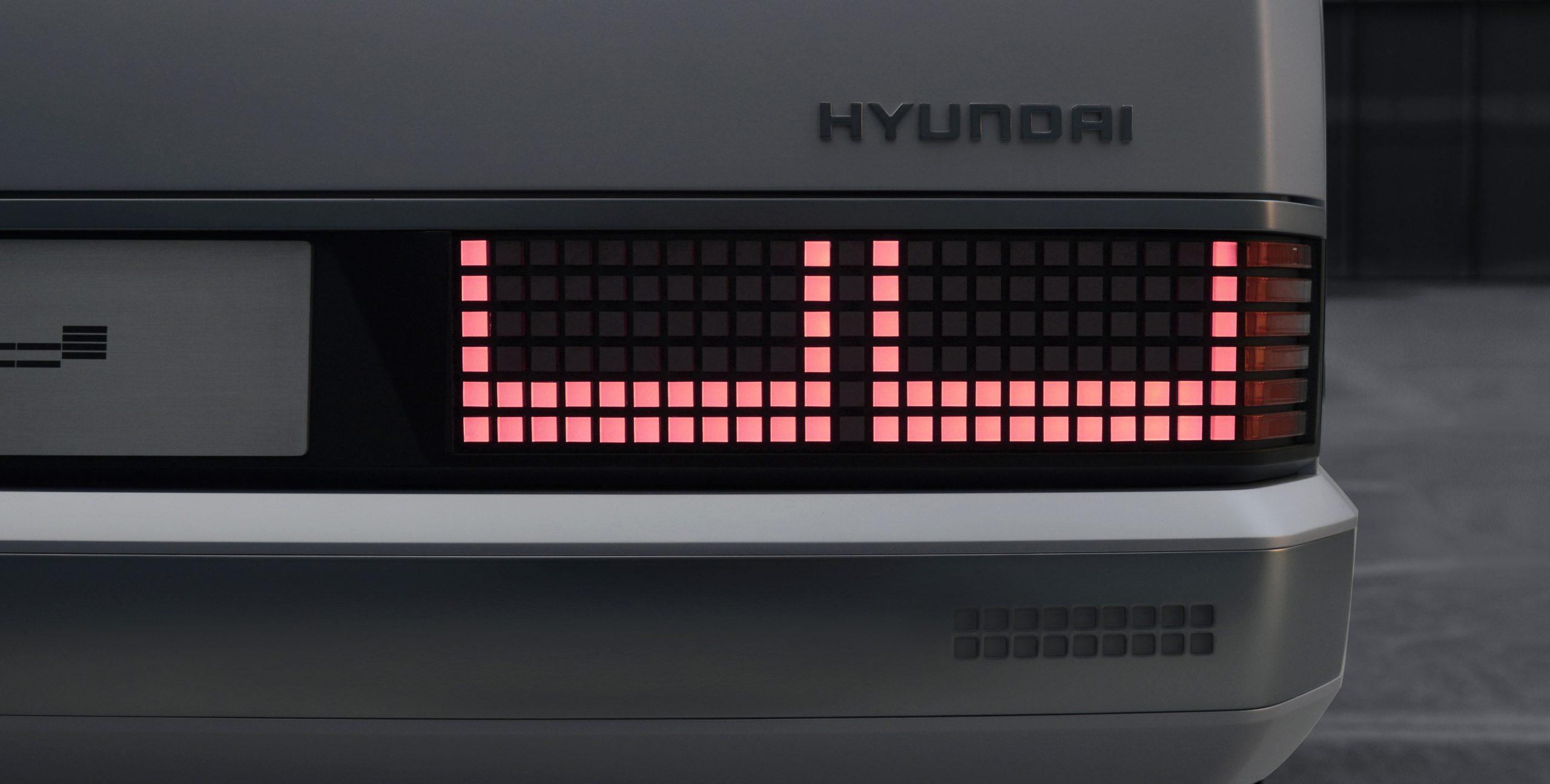 Hyundai Heritage Series Pony EV restomod taillight
