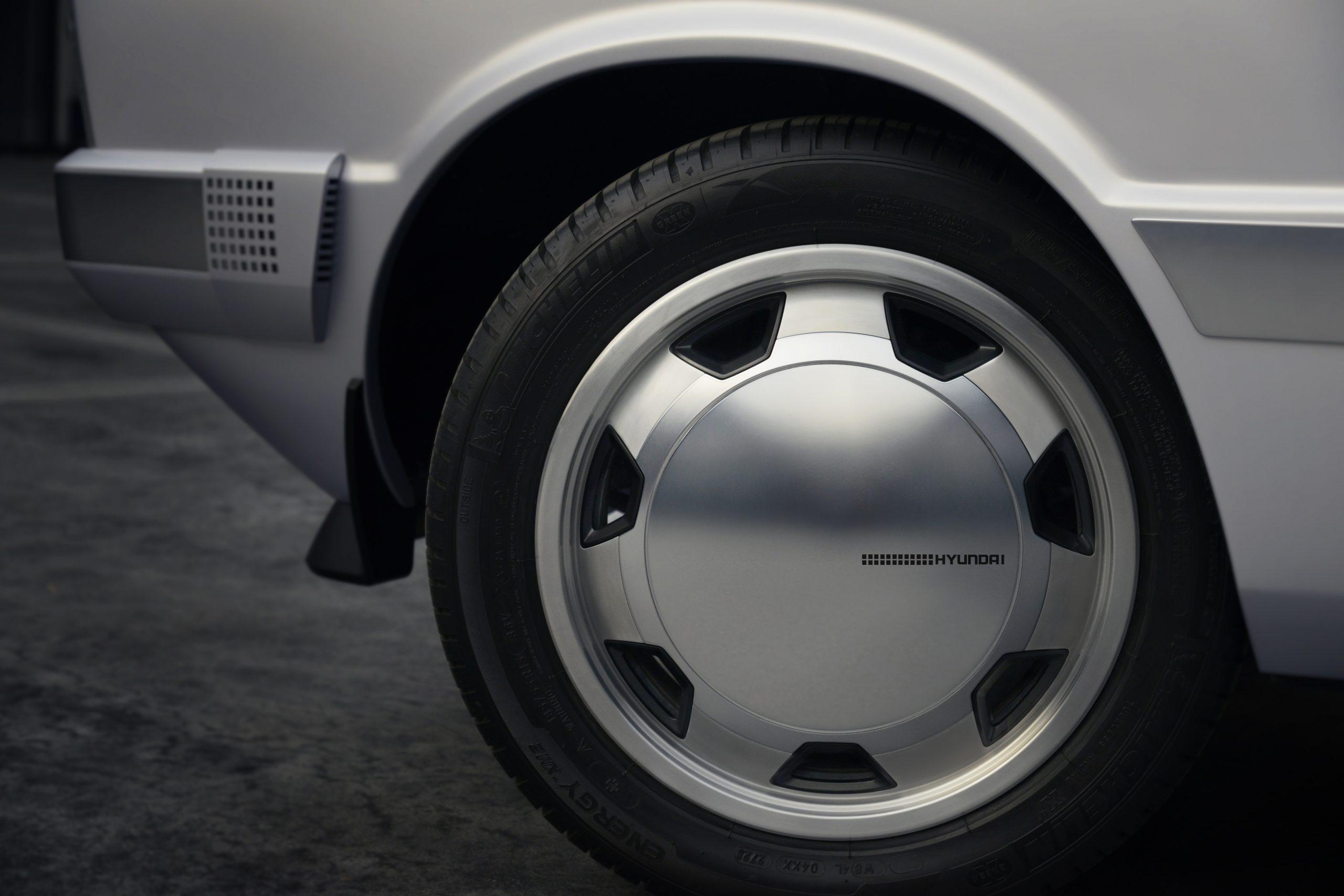 Hyundai Heritage Series Pony EV restomod wheel