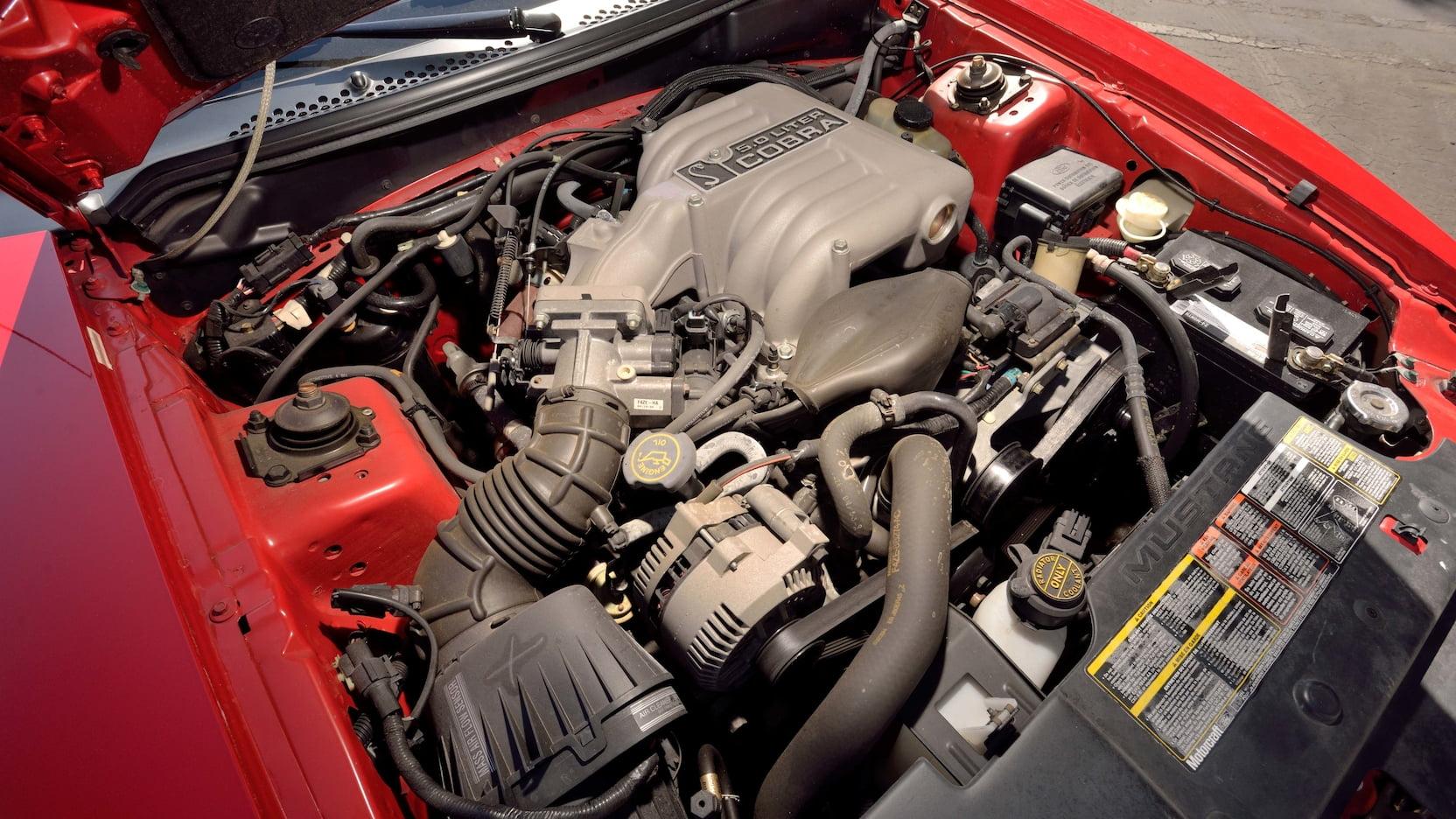 1994 Ford Mustang SVT Cobra Pace Car Edition engine Parnelli Jones Mecum