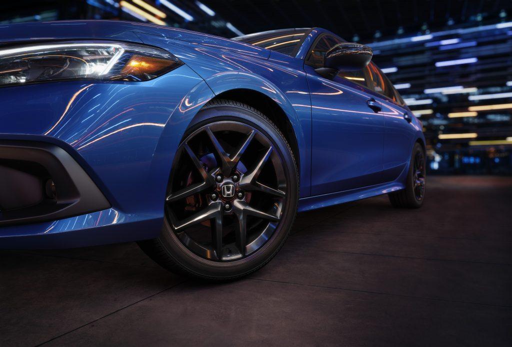 The 2022 Honda Civic sedan flaunts a tastefully minimalist interior, with one glaring omission