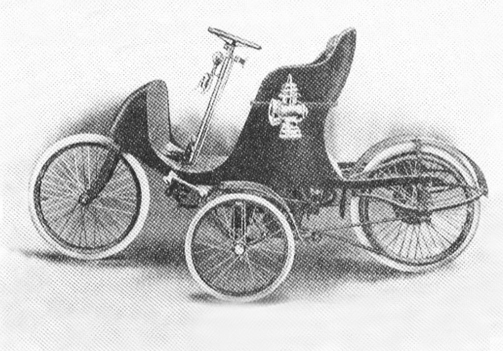 1907 Autocycle drawing side