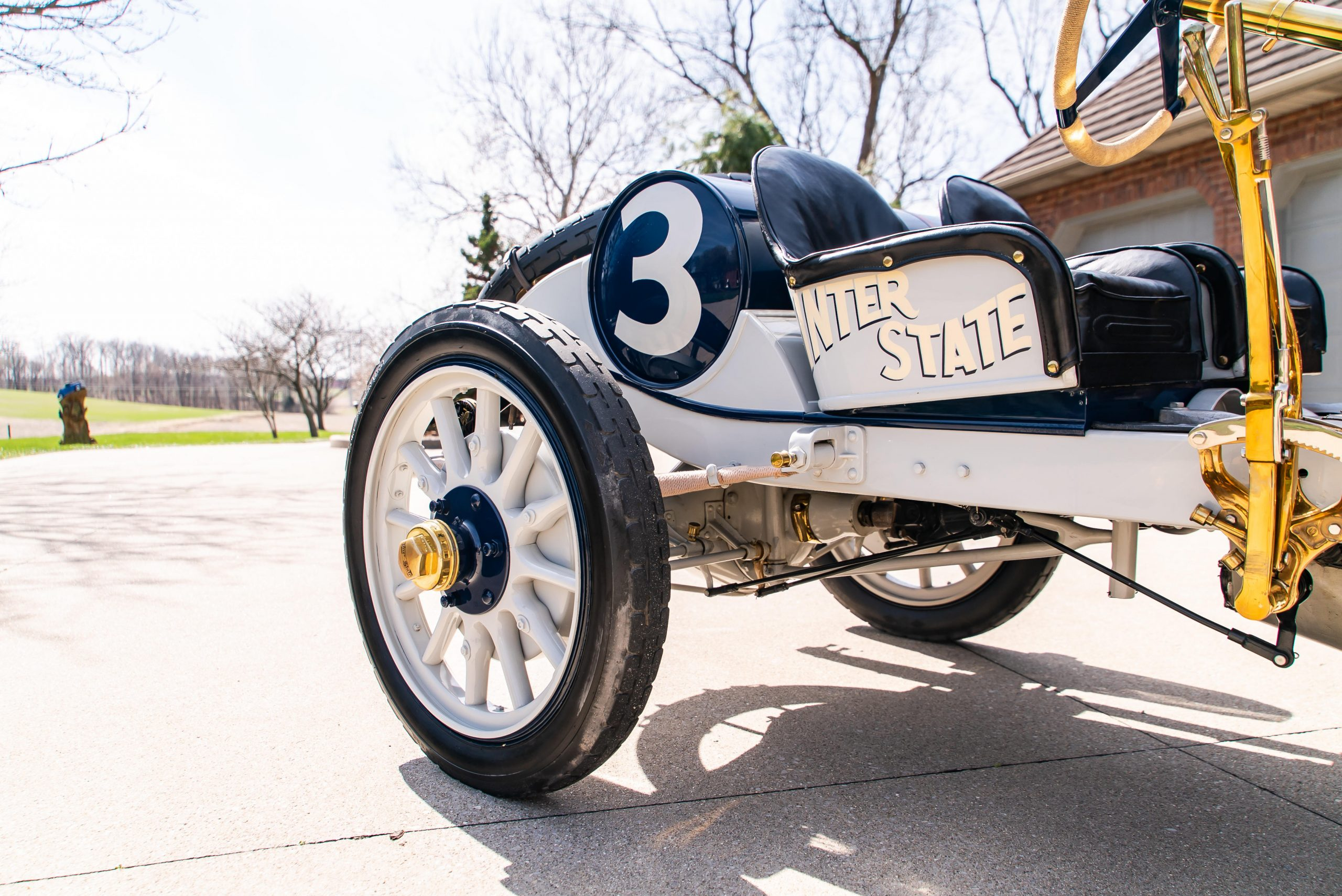 1911 Inter-State Fifty Bulldog Indianapolis Recreation rear wheels