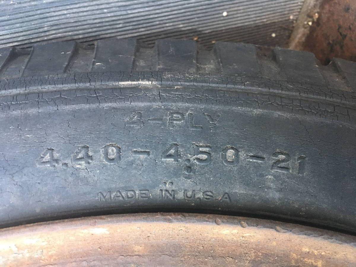 1925 Jewett tire sidewall detail