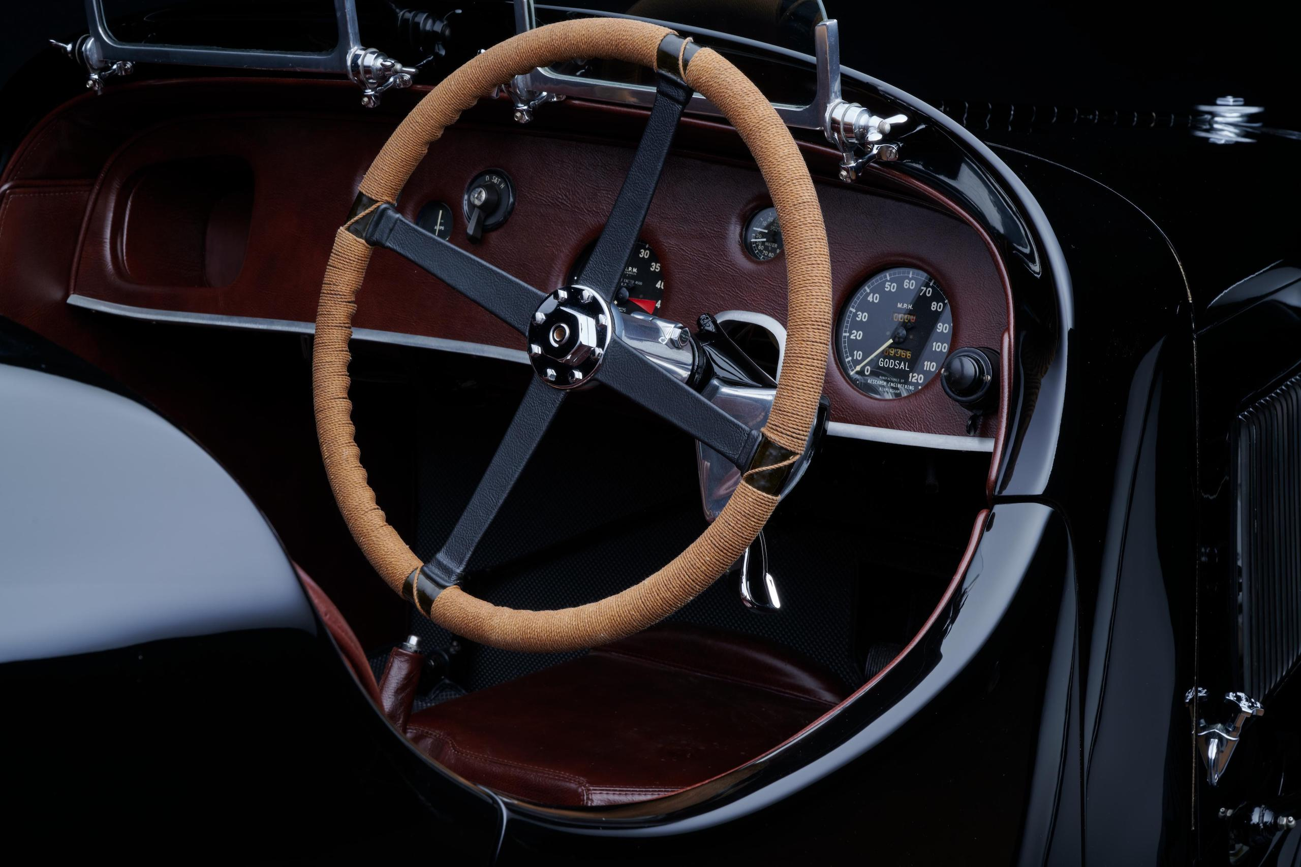 1935 Godsal Sports Tourer steering wheel