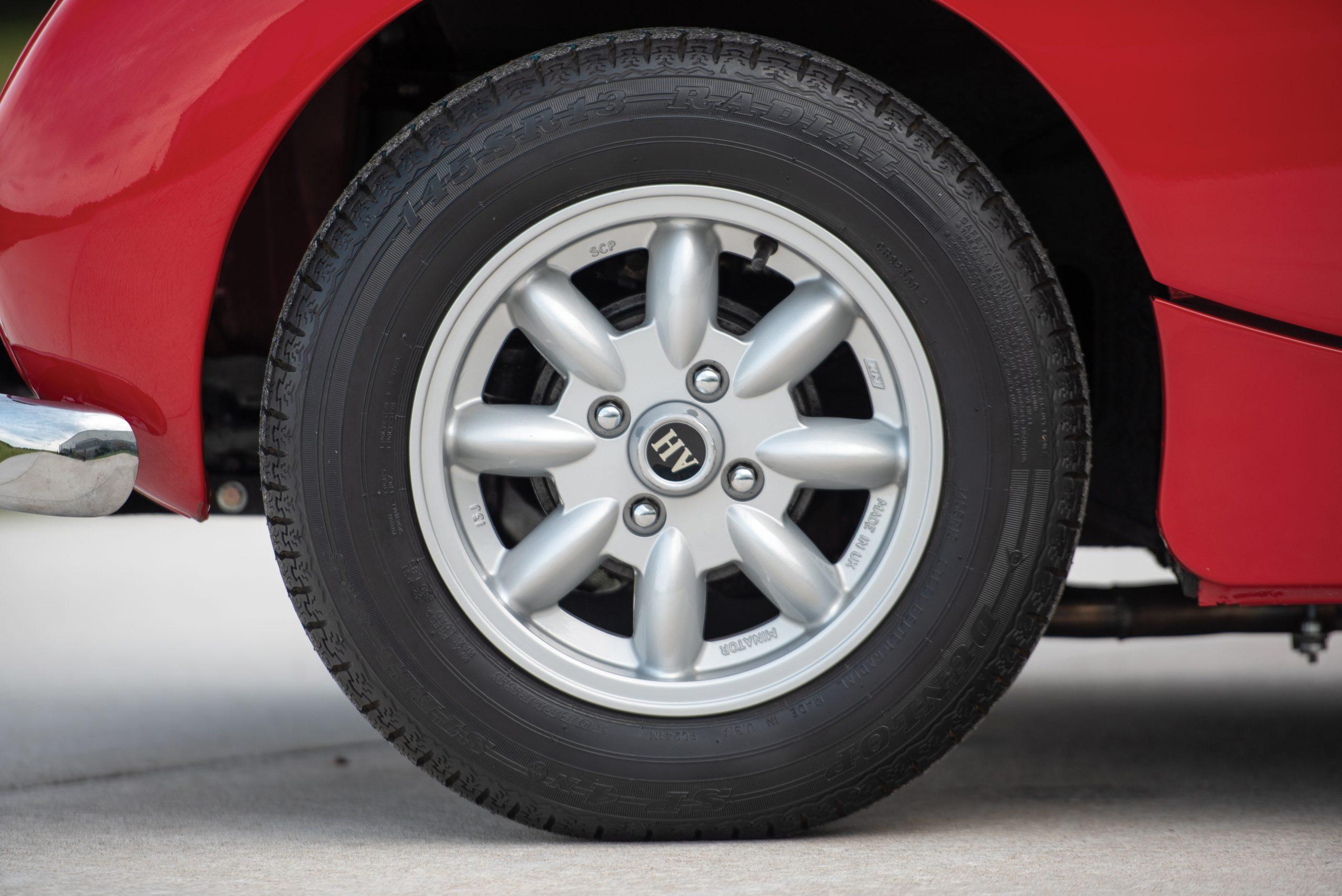 1959 Austin Healey Sprite Bugeye wheel