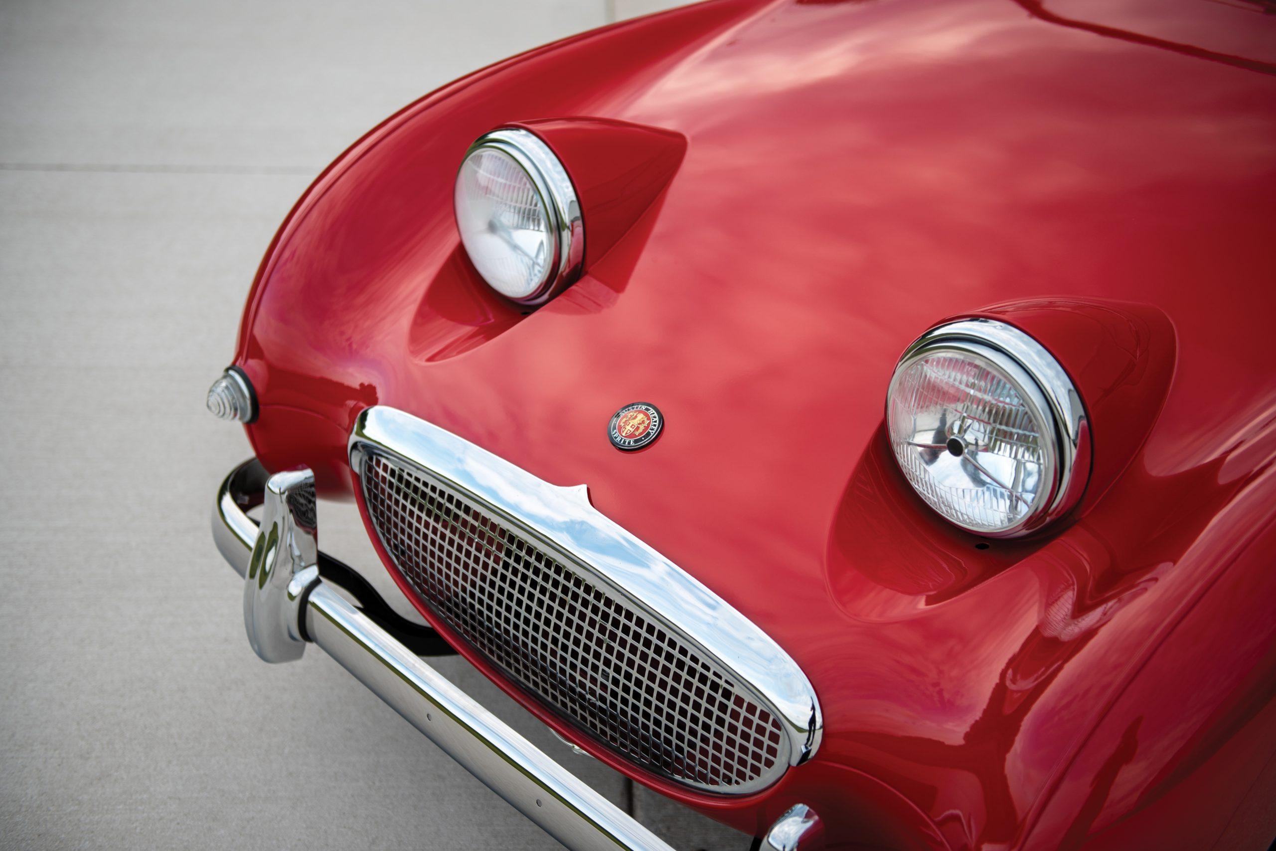 1959 Austin Healey Sprite Bugeye front fascia