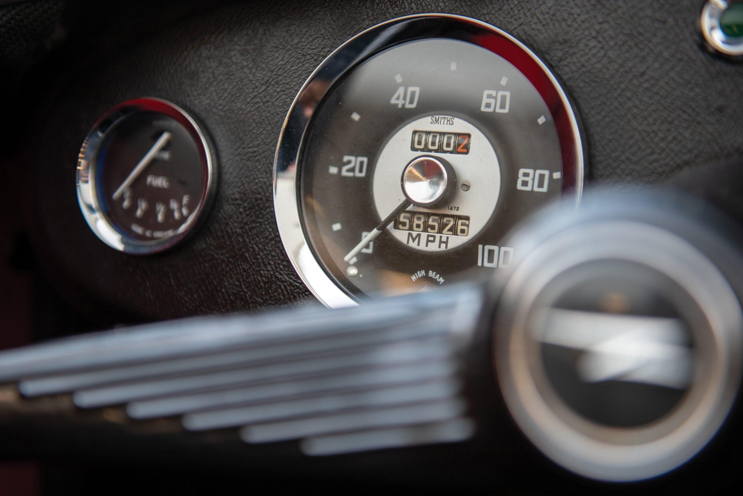 1959 Austin Healey Sprite Bugeye speedometer