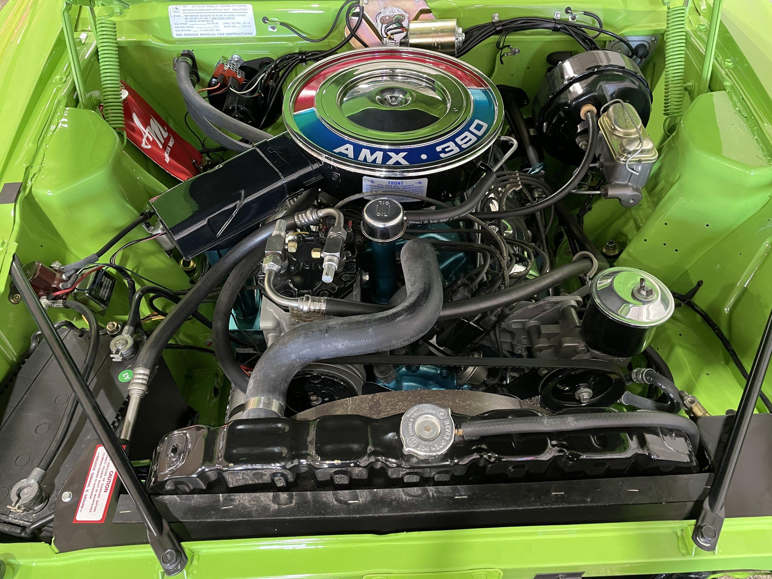 1969-AMC-AMX-California-500-Special engine