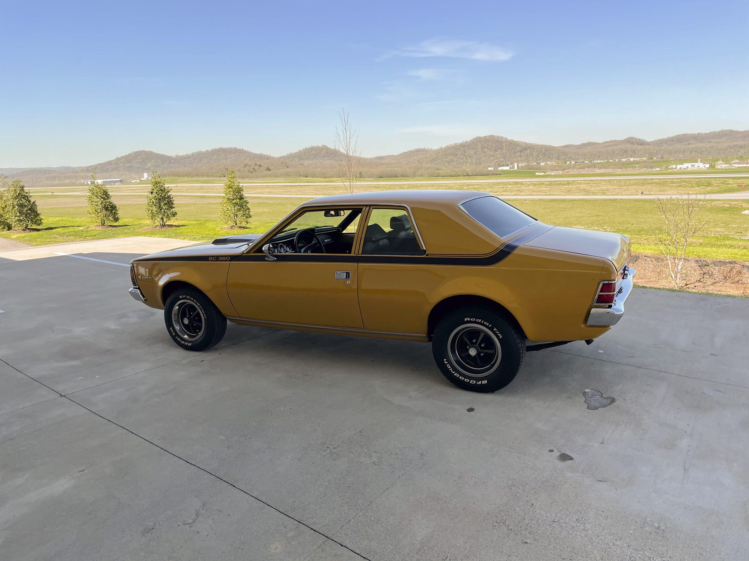 1971-AMC-Hornet-SC rear three-quarter