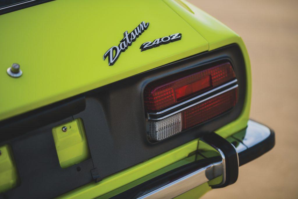 1972 Datsun 240Z rear badge